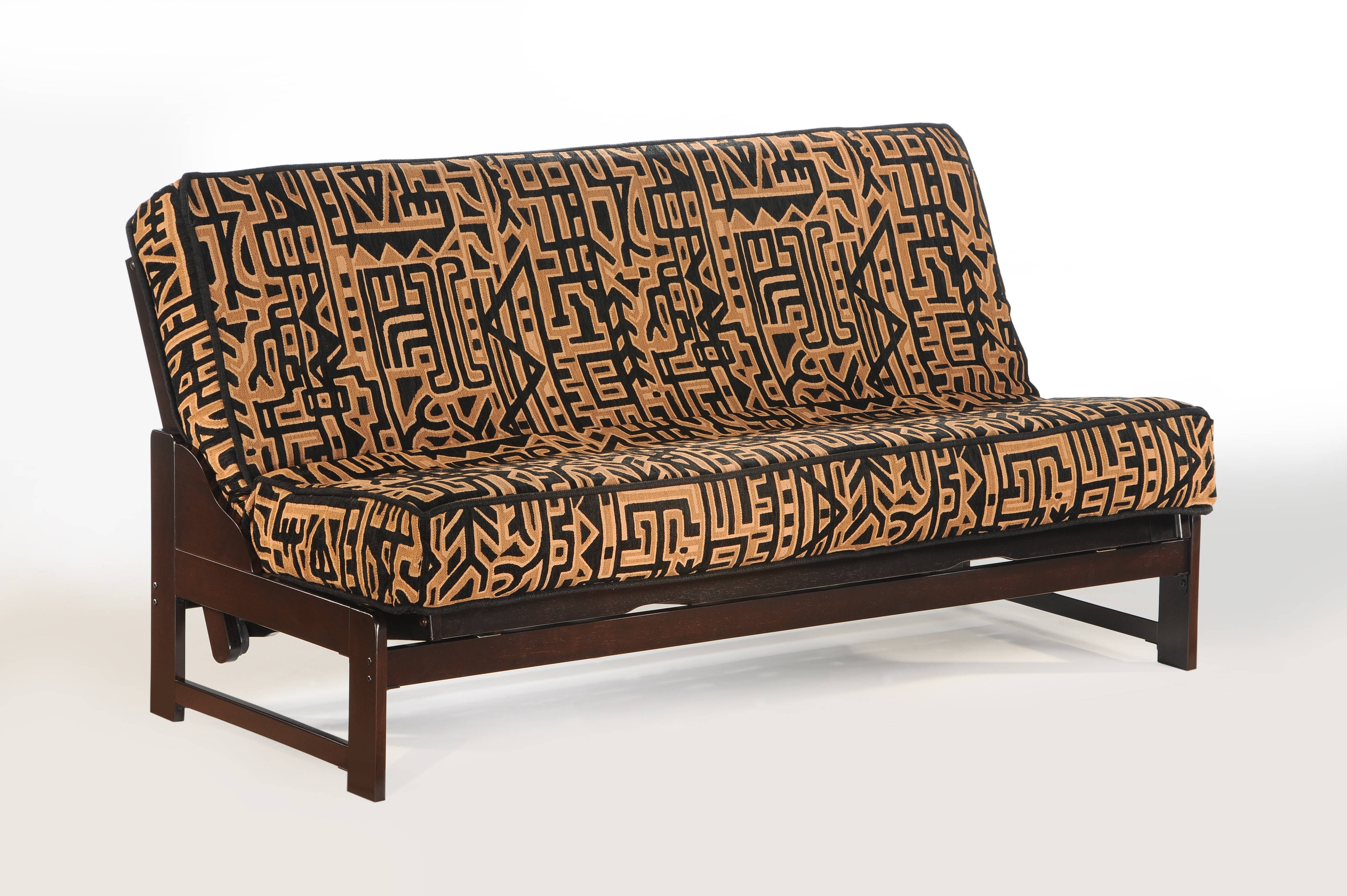 queen futon frame wood furniture night and day furniture eureka chocolate queen futon frame the