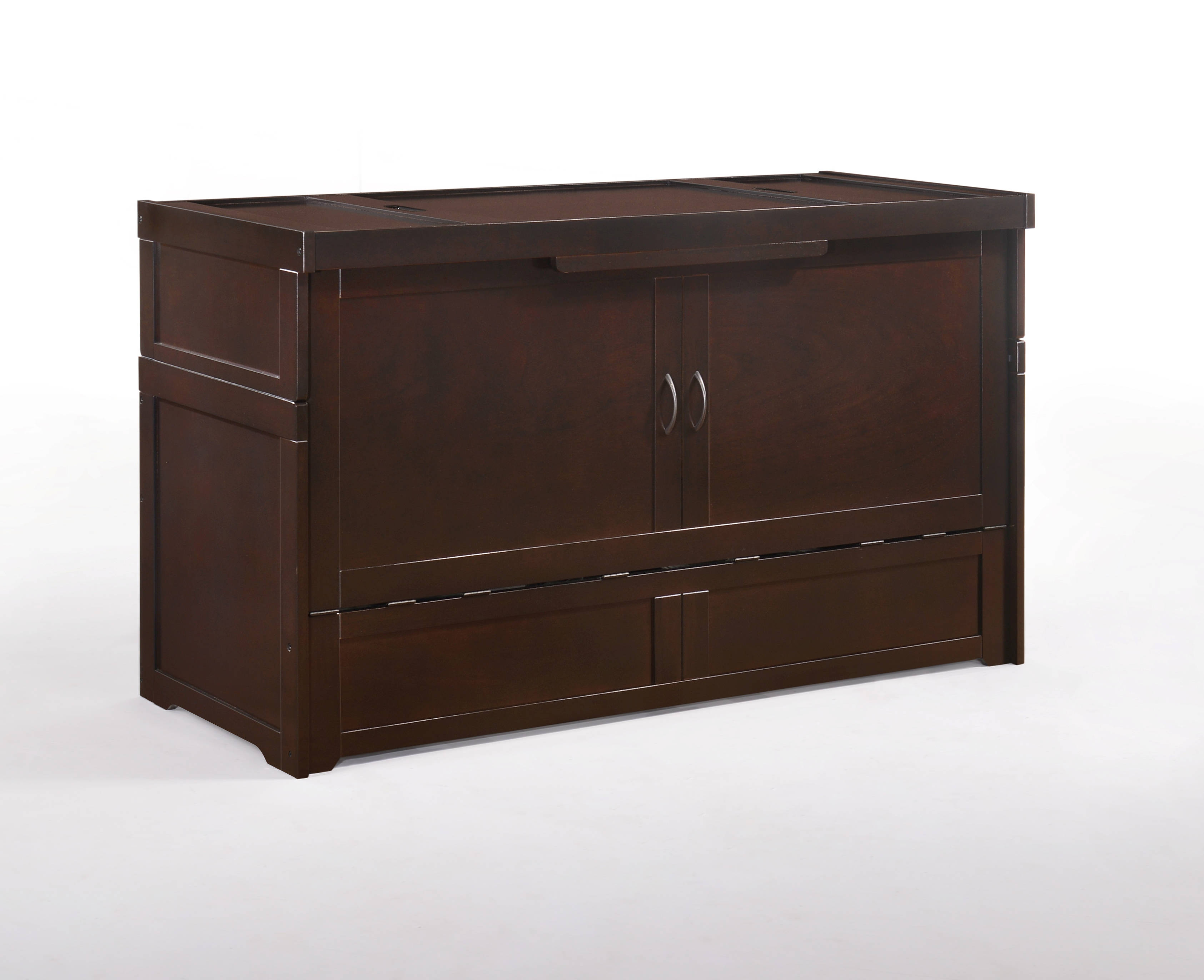 Night And Day Furniture Cube Chocolate Murphy Cabinet Bed