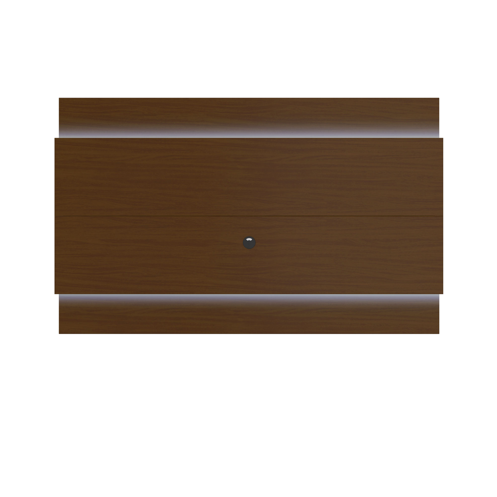 Home Roots Nut Brown Floating Wall Tv Panel 22 With Led Lights