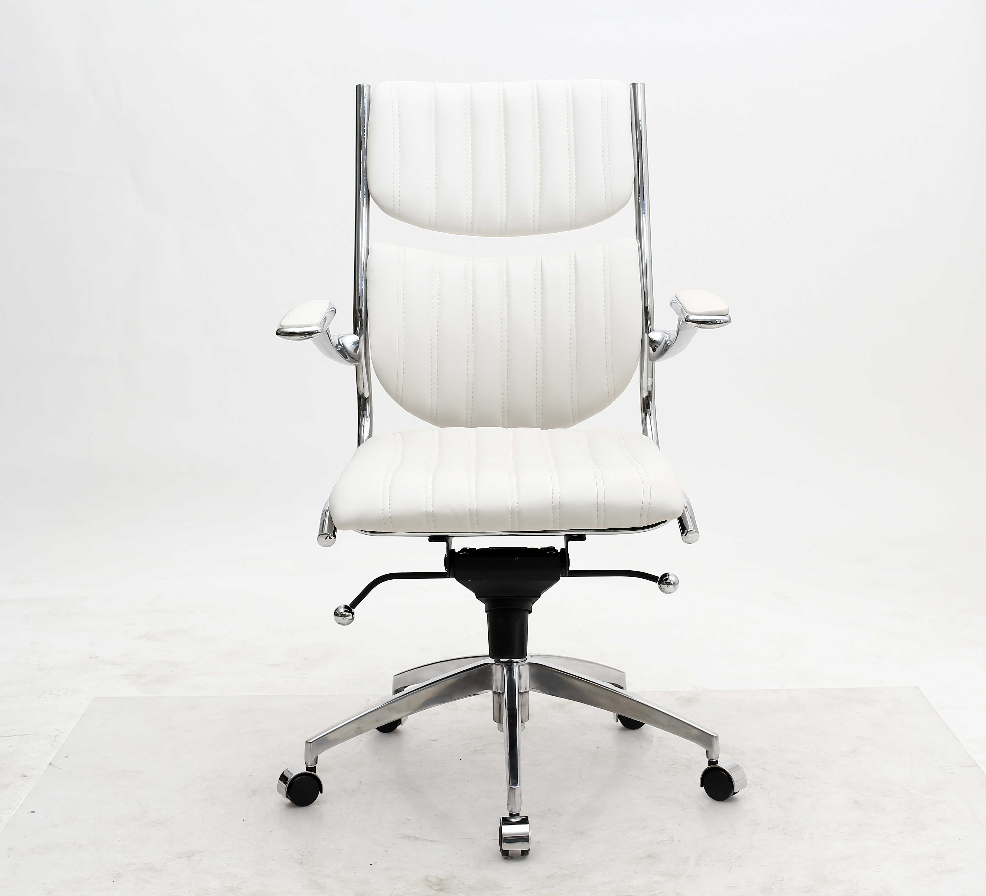 Home roots white ergonomic high back verdi office chair click to enlarge