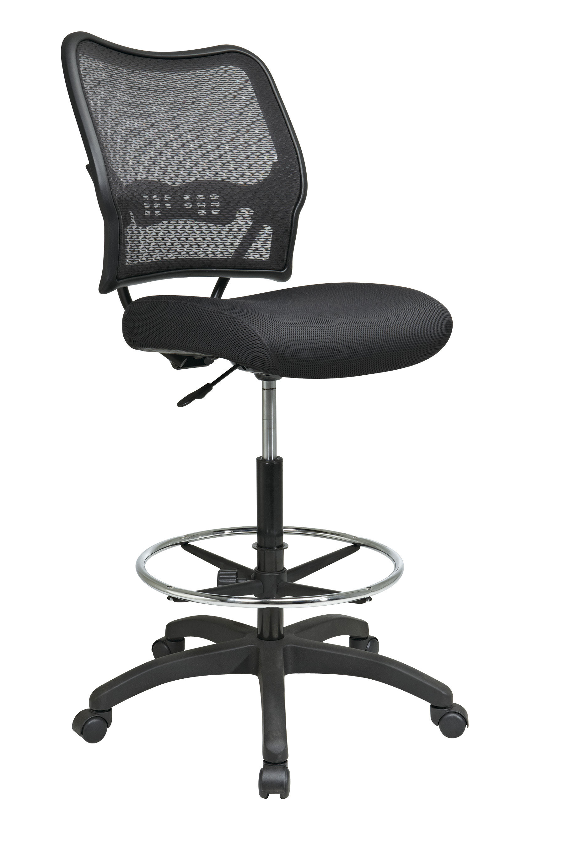 Modern Metal Deluxe Airgrid Back Drafting Chair With Black