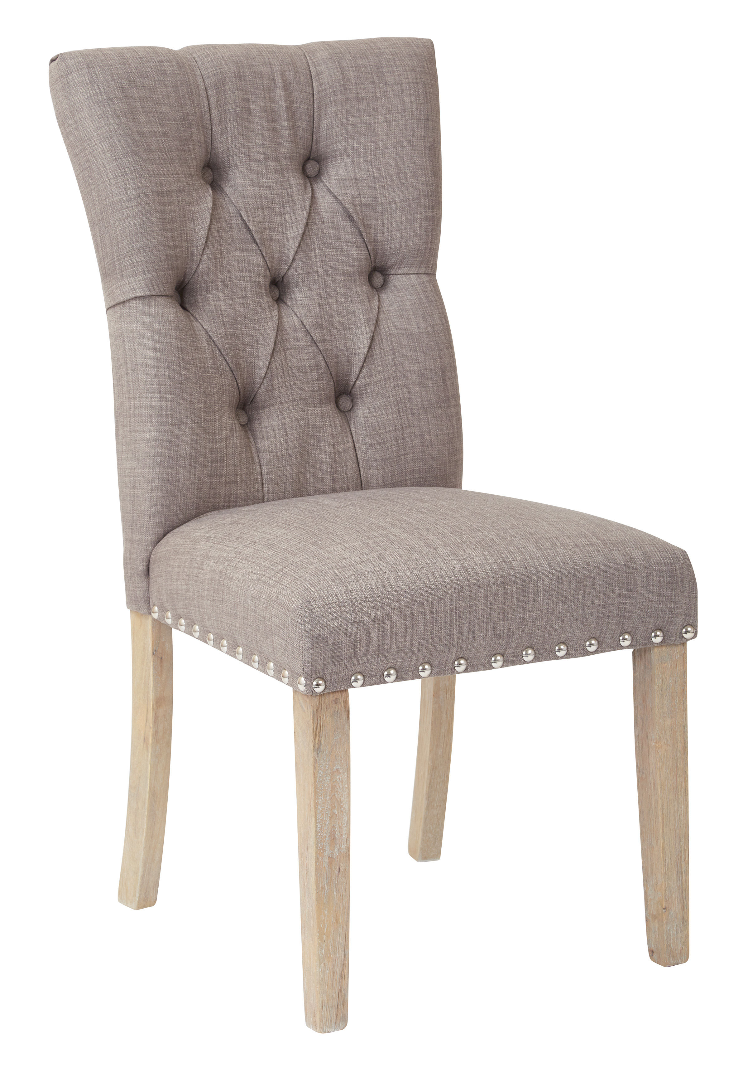 Awesome Preston Traditional Grey Fabric Nailhead Dining Chair The Bralicious Painted Fabric Chair Ideas Braliciousco