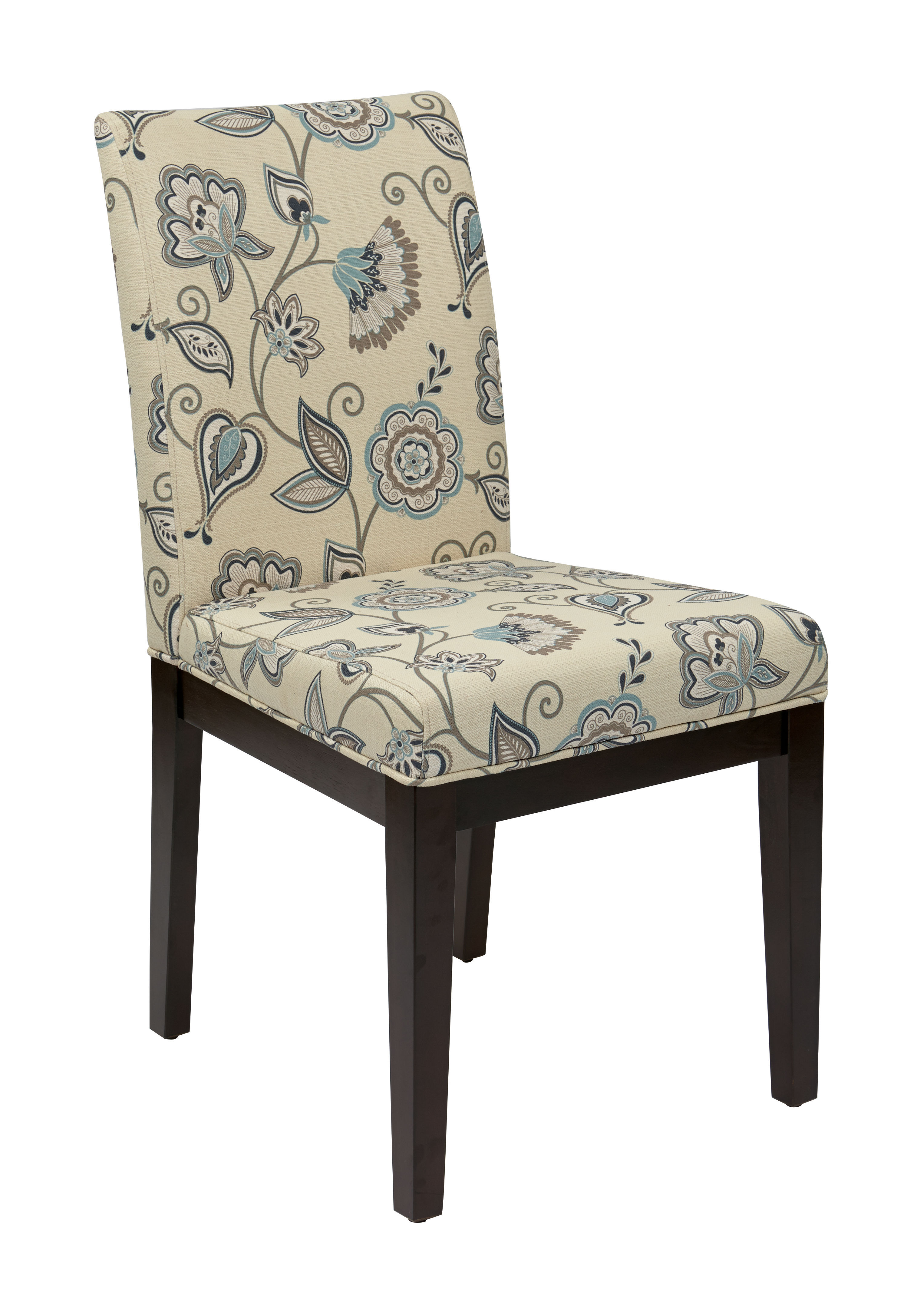 Dakota Avignon Sky Fabric Wood Parsons Chair The Classy Home