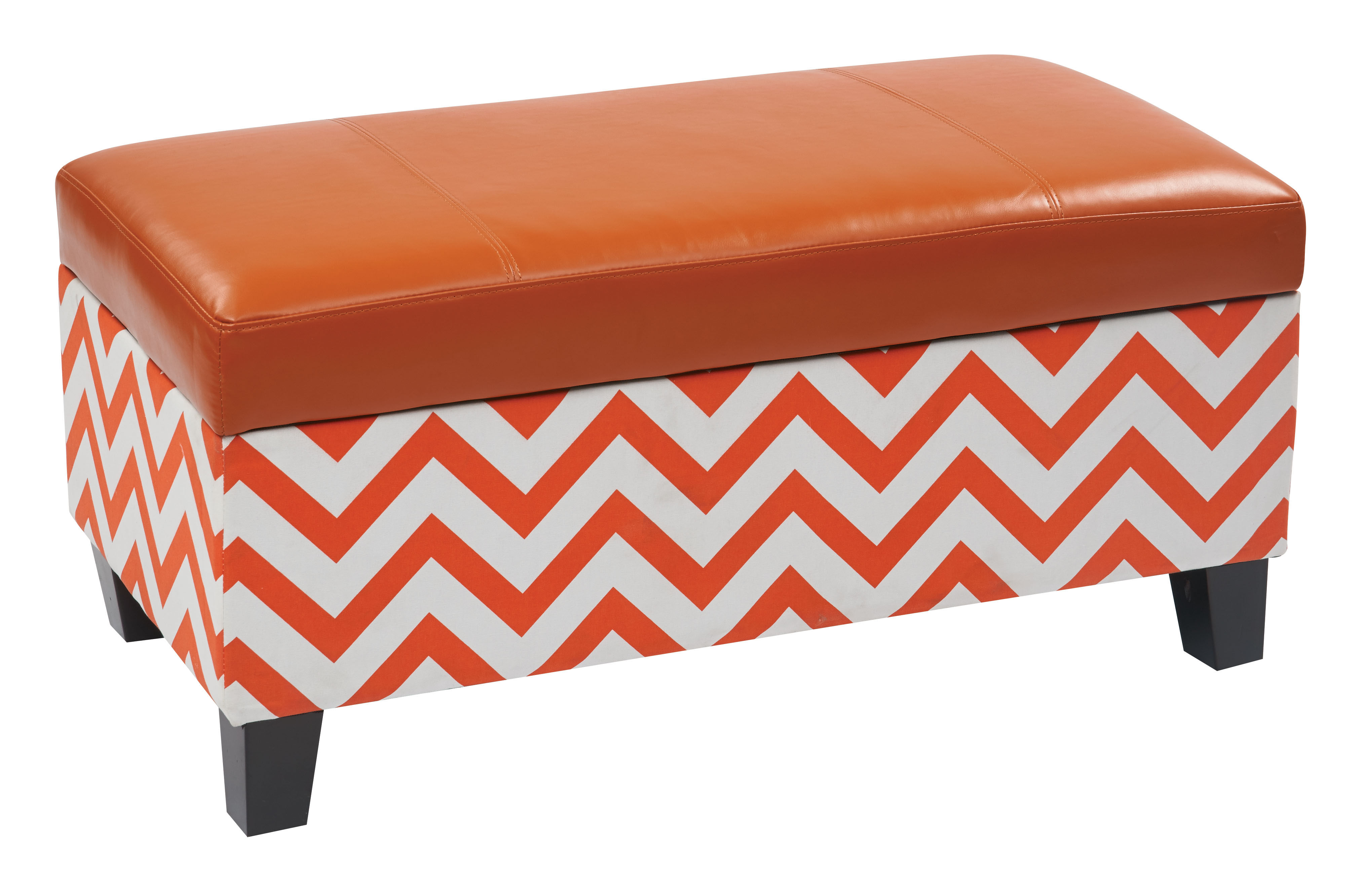 Magnificent Hudson Orange Zig Zag Storage Ottoman Osp Hud3819 Z8 The Ocoug Best Dining Table And Chair Ideas Images Ocougorg