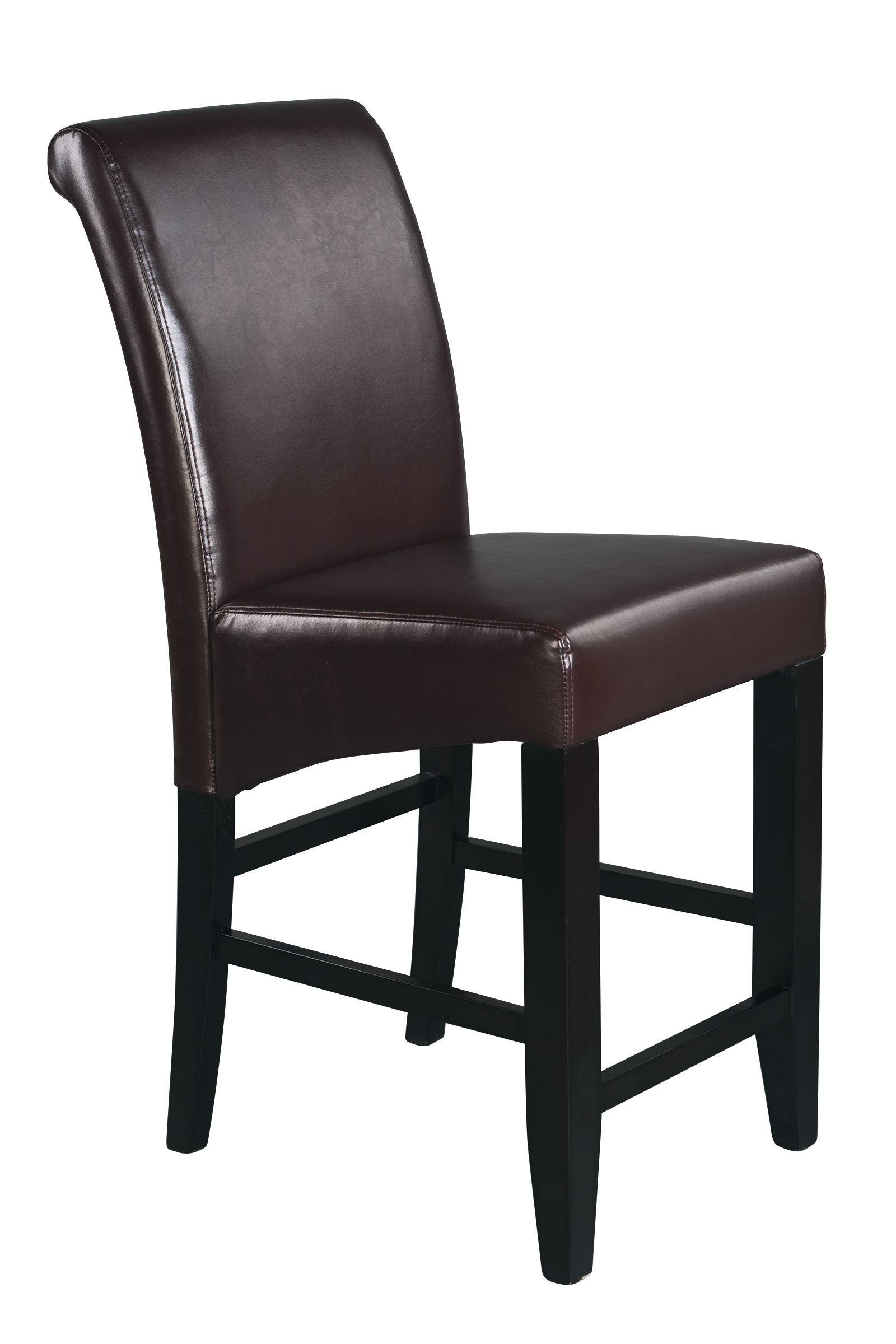 Metro Espresso Bonded Leather Wood 24 Inch Parsons