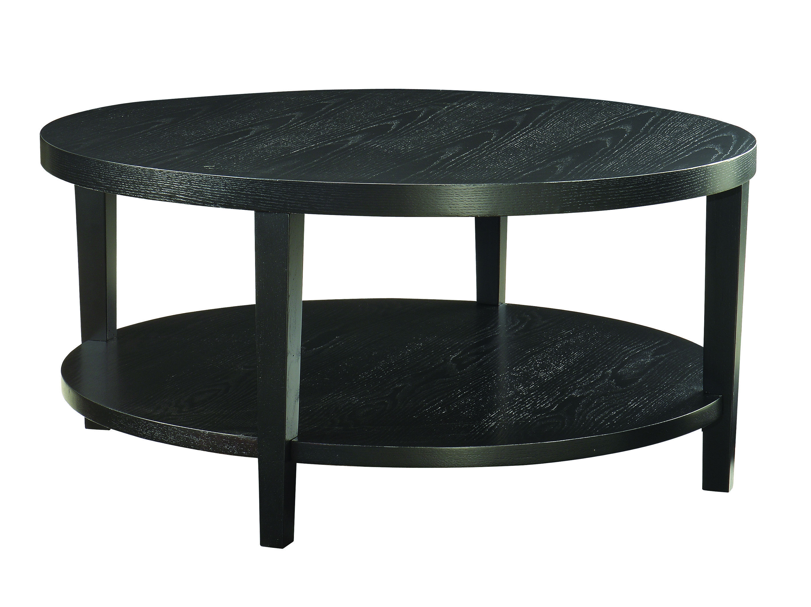 Merge Contemporary Black Wood Veneer 36 Inch Round Coffee Table The Classy Home