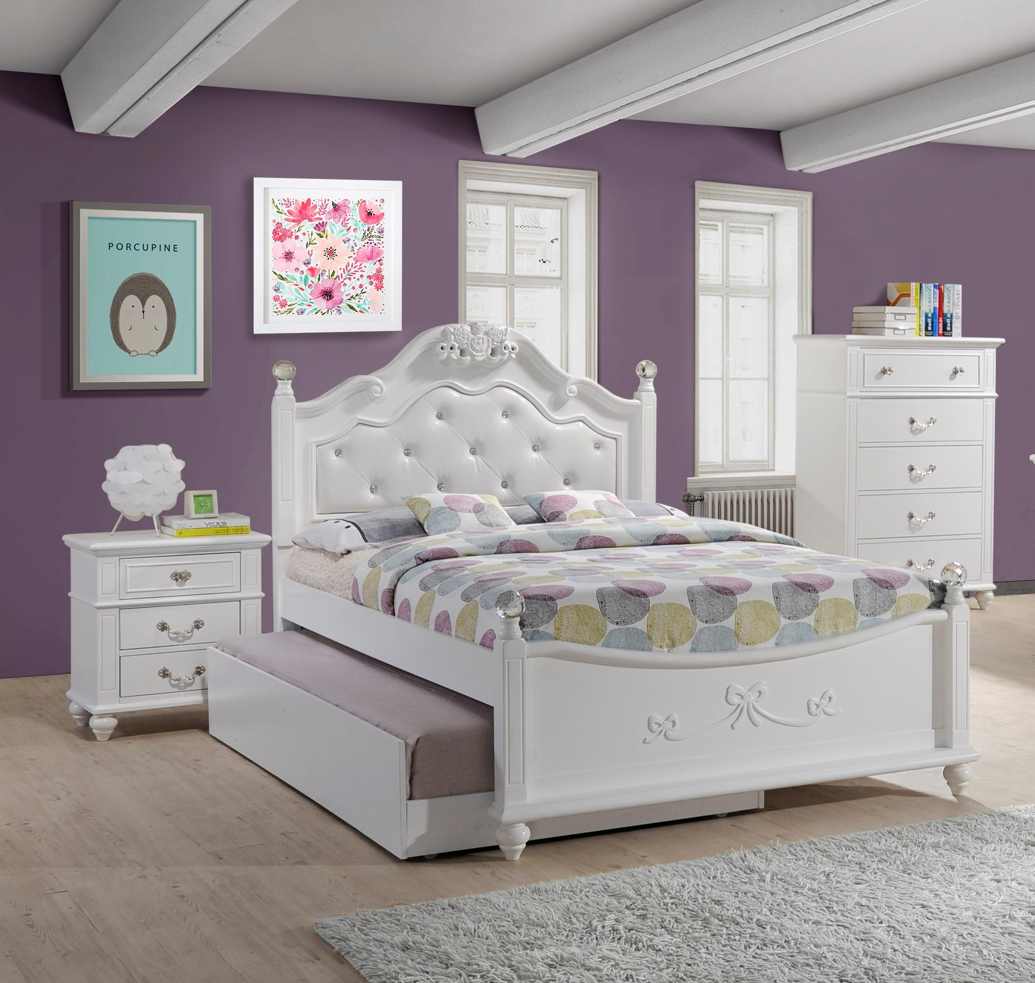 Picket House Annie White 3pc Bedroom Set With Storage Trundle Full Platform Bed