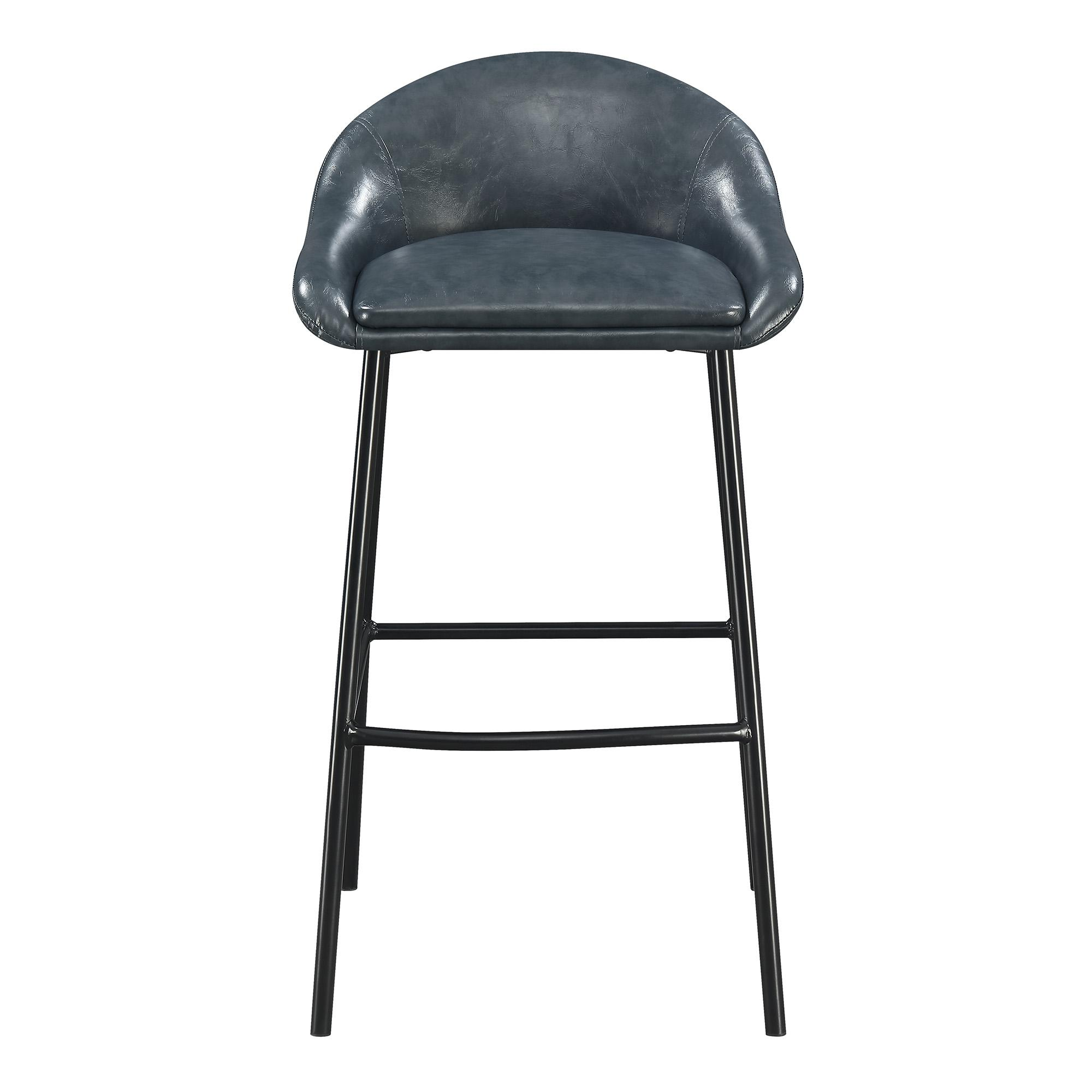 Astonishing Picket House Matthews Blue Low Back Bar Stool Andrewgaddart Wooden Chair Designs For Living Room Andrewgaddartcom