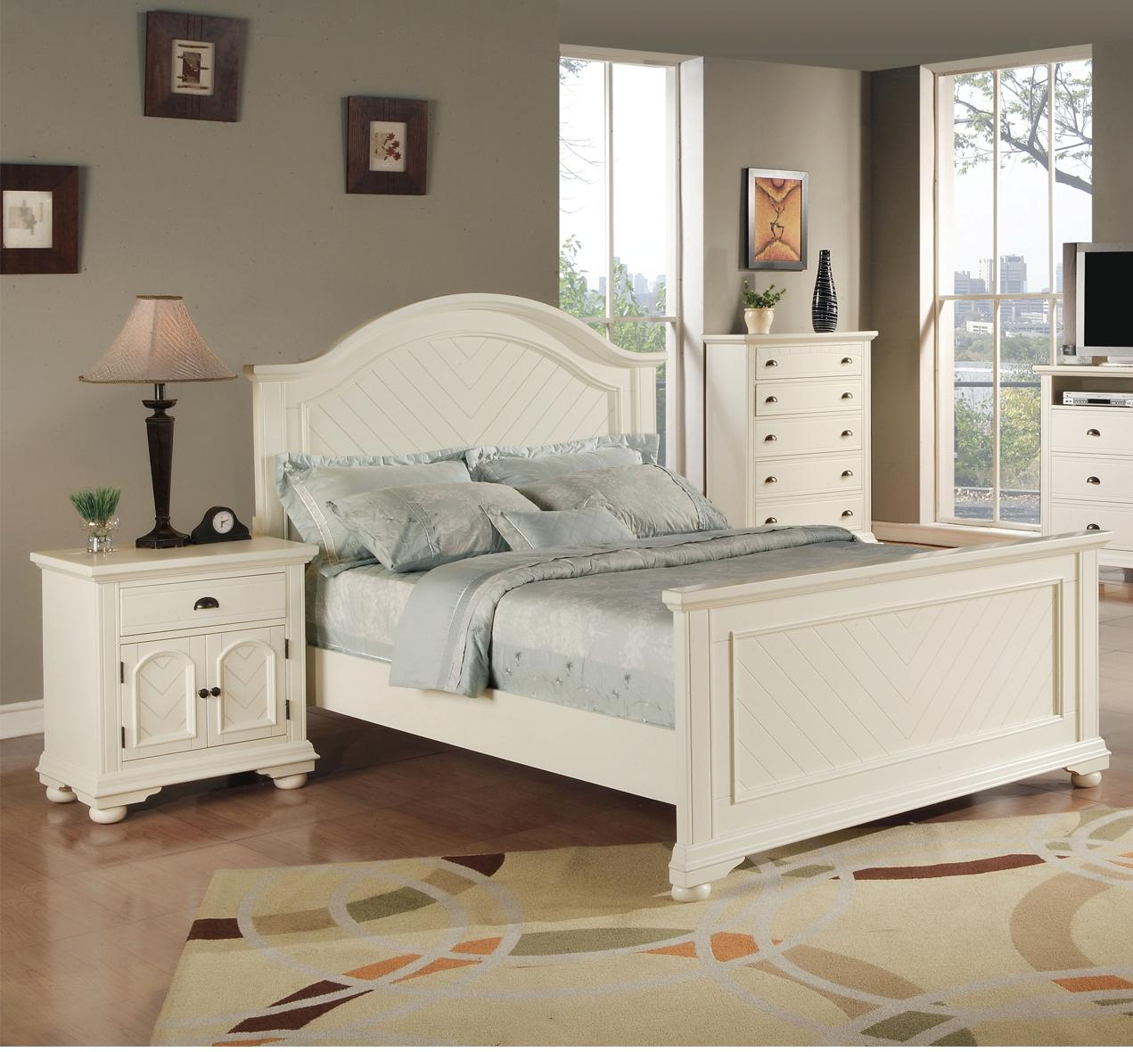 Picket House Addison White 2pc Bedroom Set with Queen Panel Bed