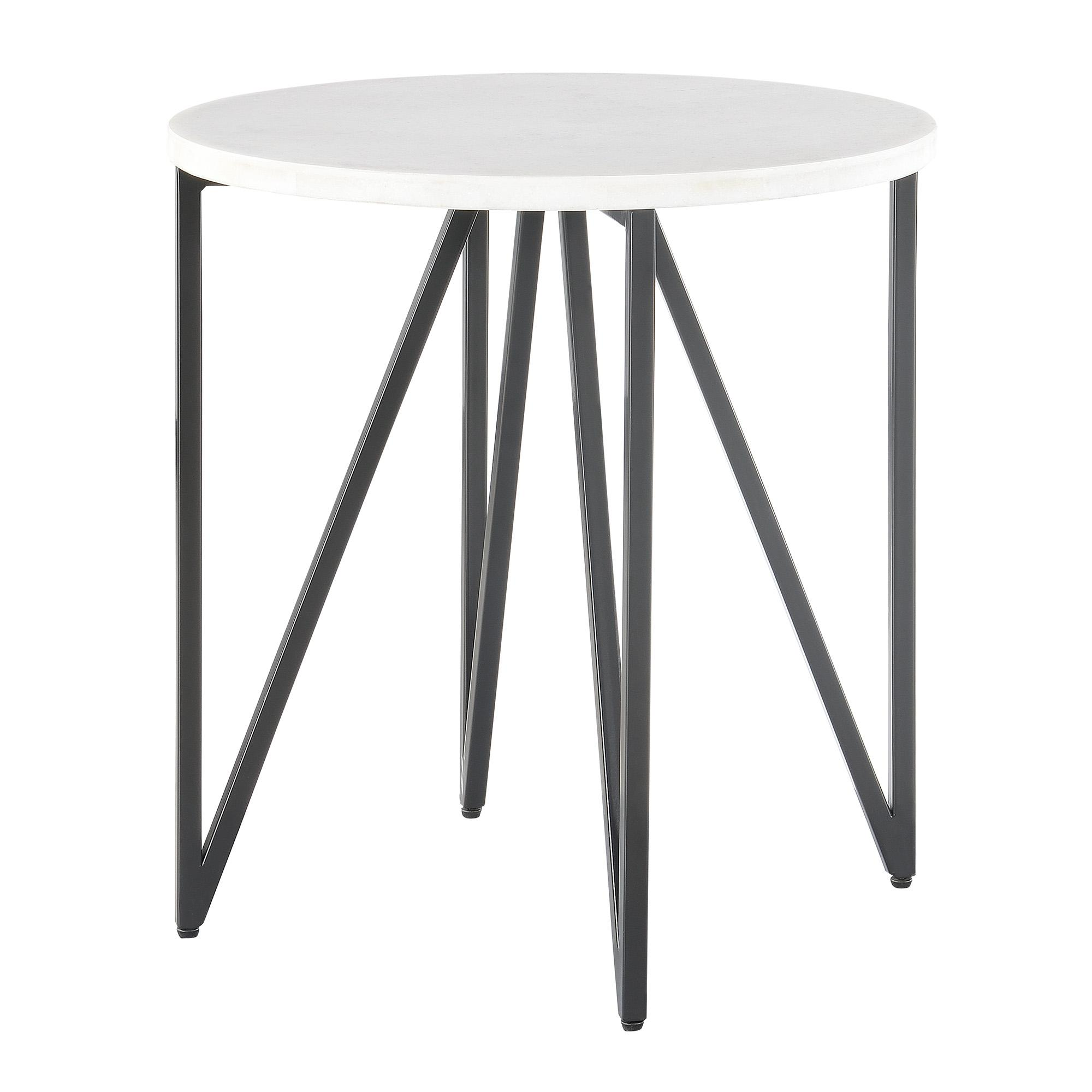 250e5371f5 Picket House Kinsler Black Round Marble Top End Table Click To Enlarge ...