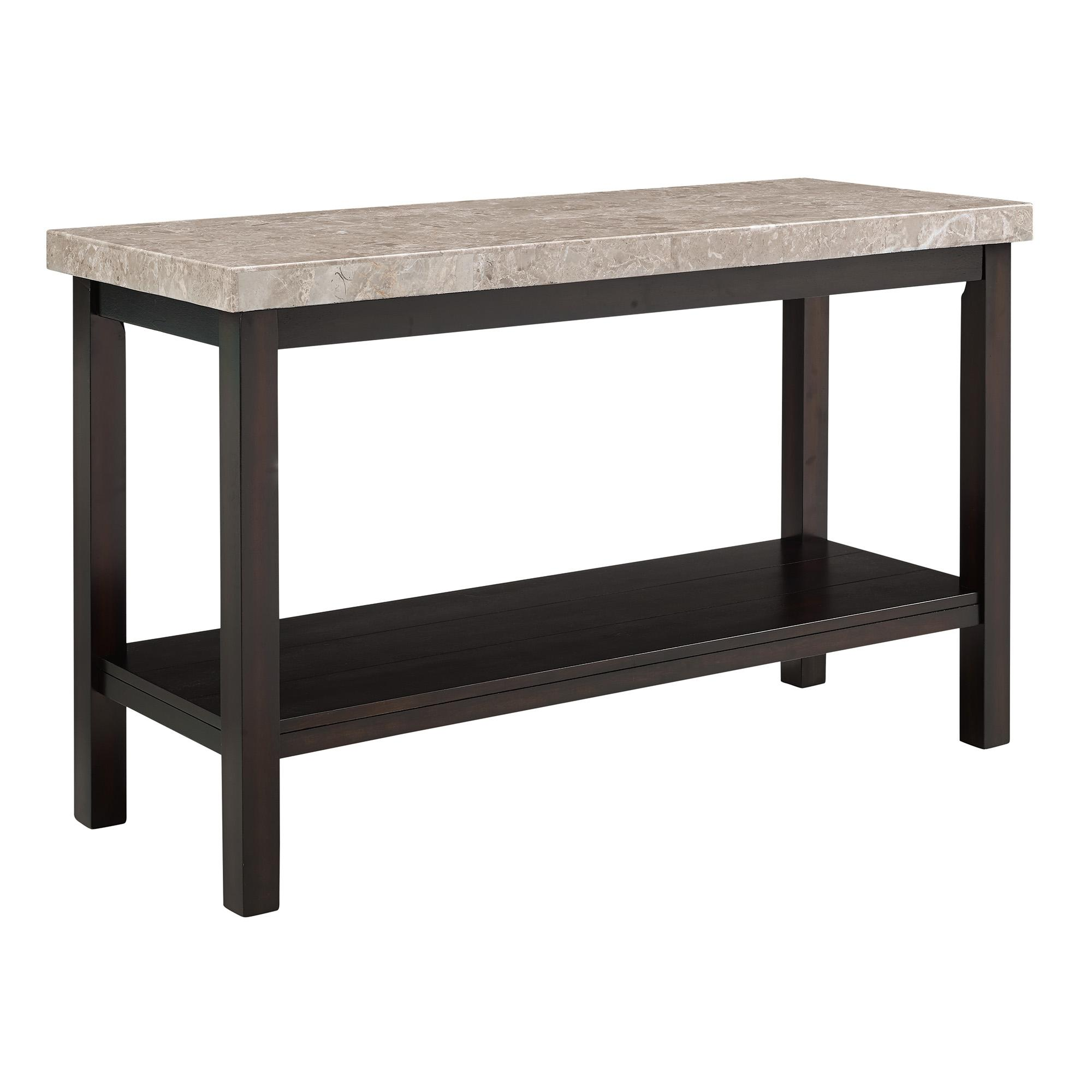 Picket House Caleb Espresso Marble Top Sofa Table
