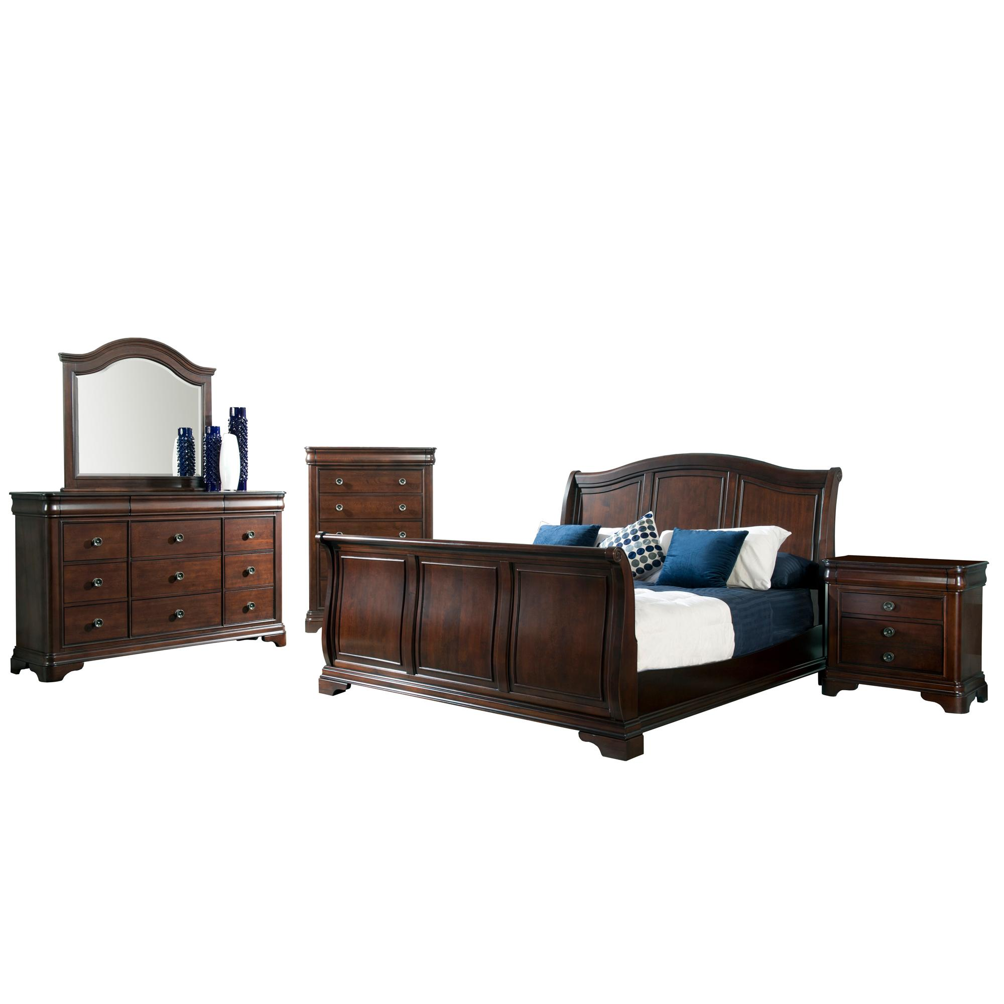 Picket House Conley Cherry 5pc Bedroom Set with Queen Sleigh Bed