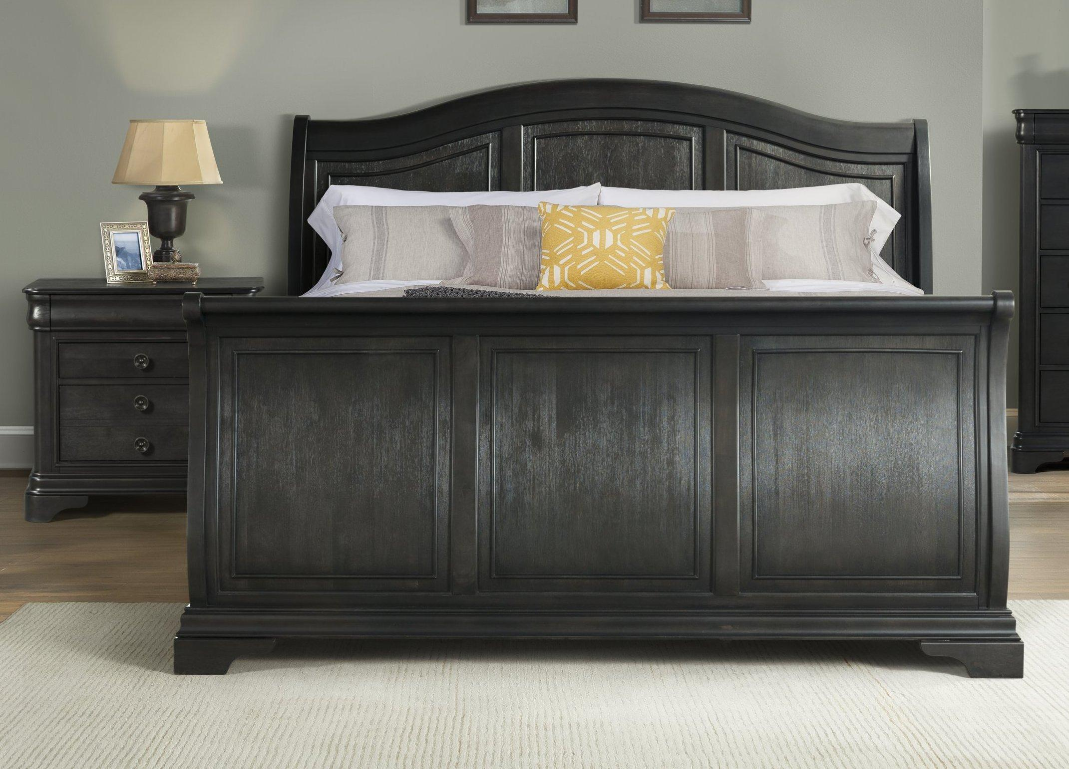 Peachy Picket House Conley Charcoal 2Pc Bedroom Set With Queen Sleigh Bed Caraccident5 Cool Chair Designs And Ideas Caraccident5Info