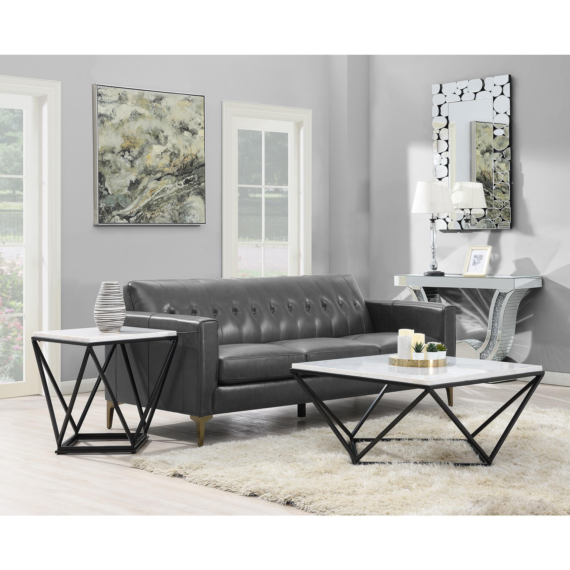 Picket House Conner Black Square 3pc Coffee Table Set