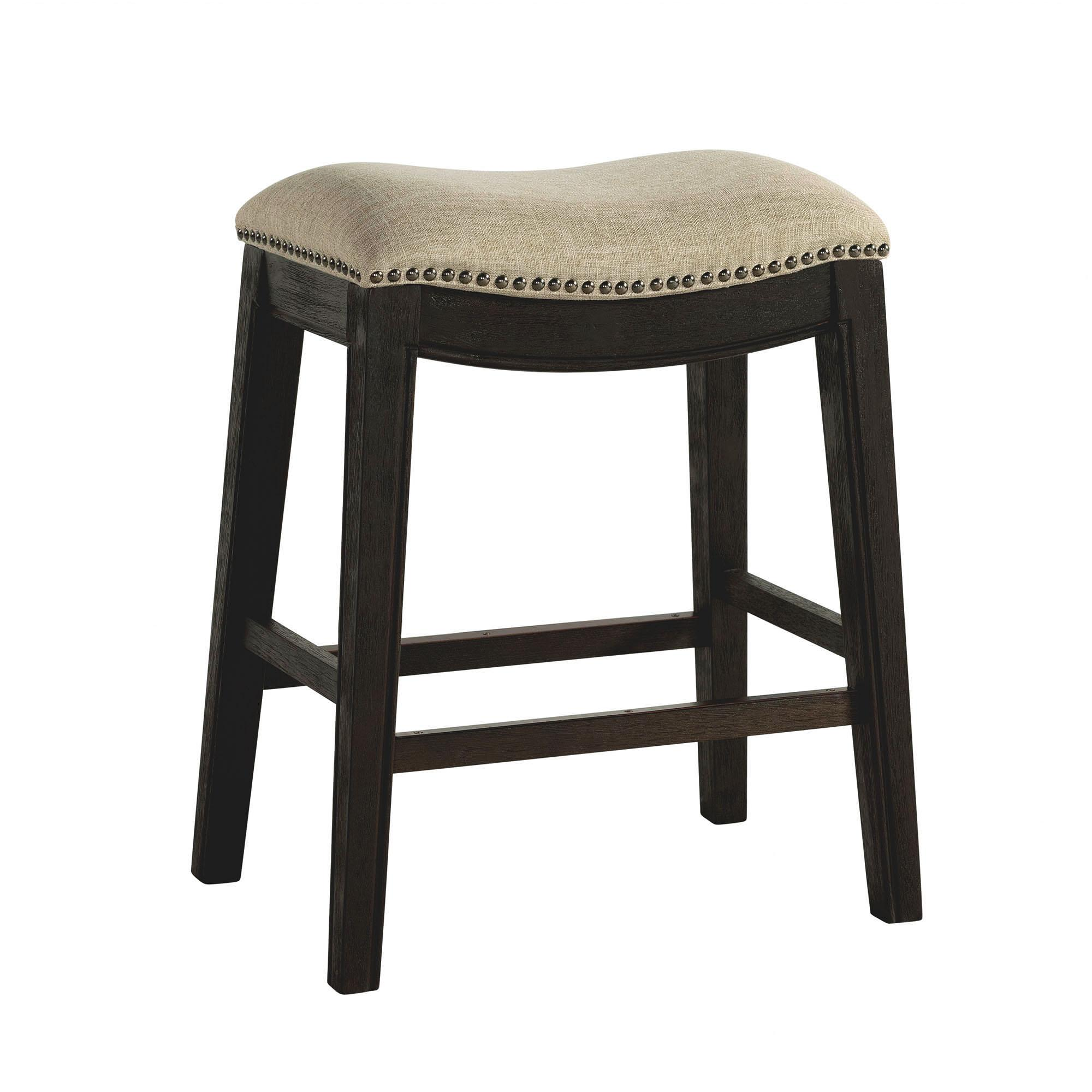Tremendous Picket House Miles Espresso Taupe 24 Inch Counter Height Stool Beatyapartments Chair Design Images Beatyapartmentscom