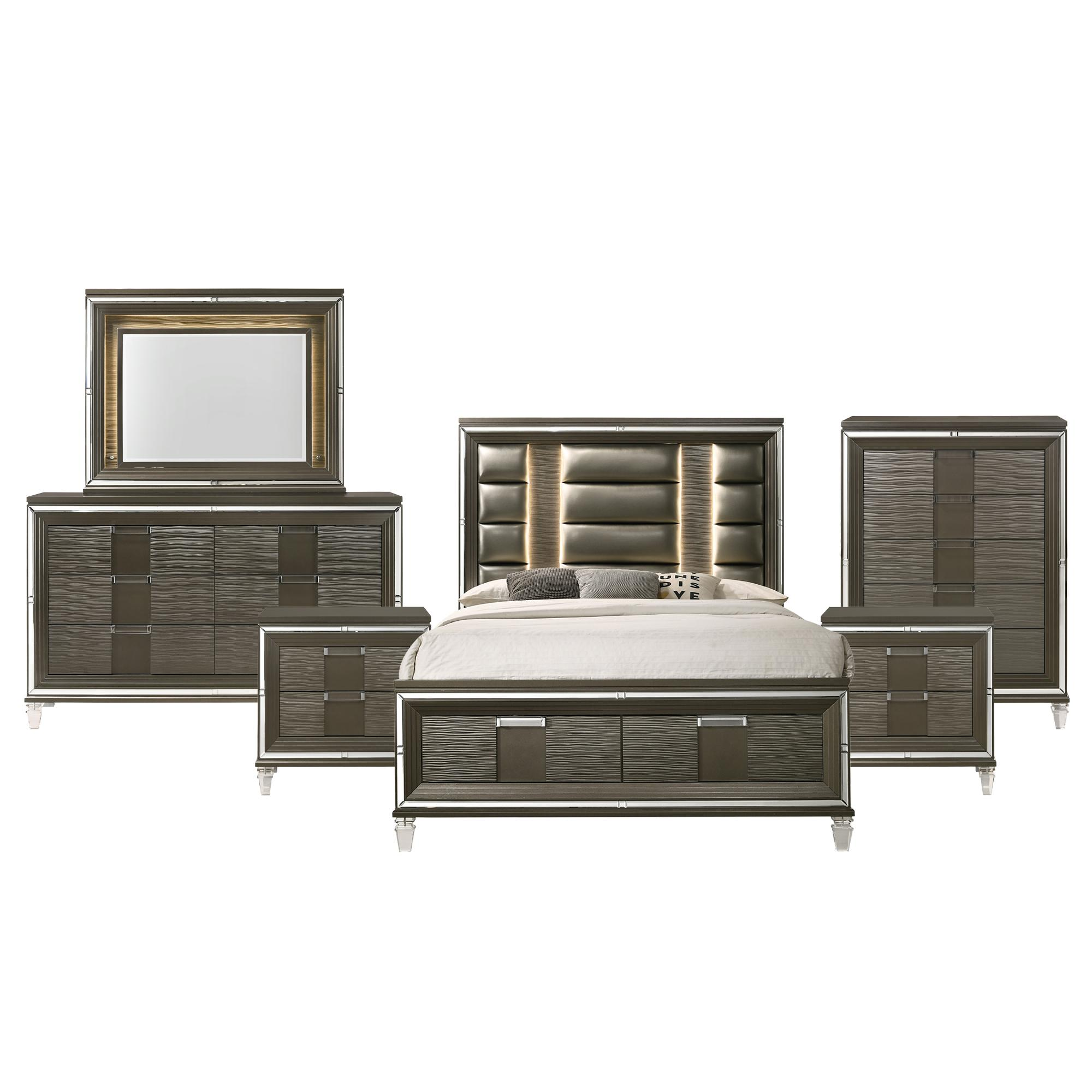 Picket House Charlotte Copper 6pc Bedroom Set With 2 Drawers Storage