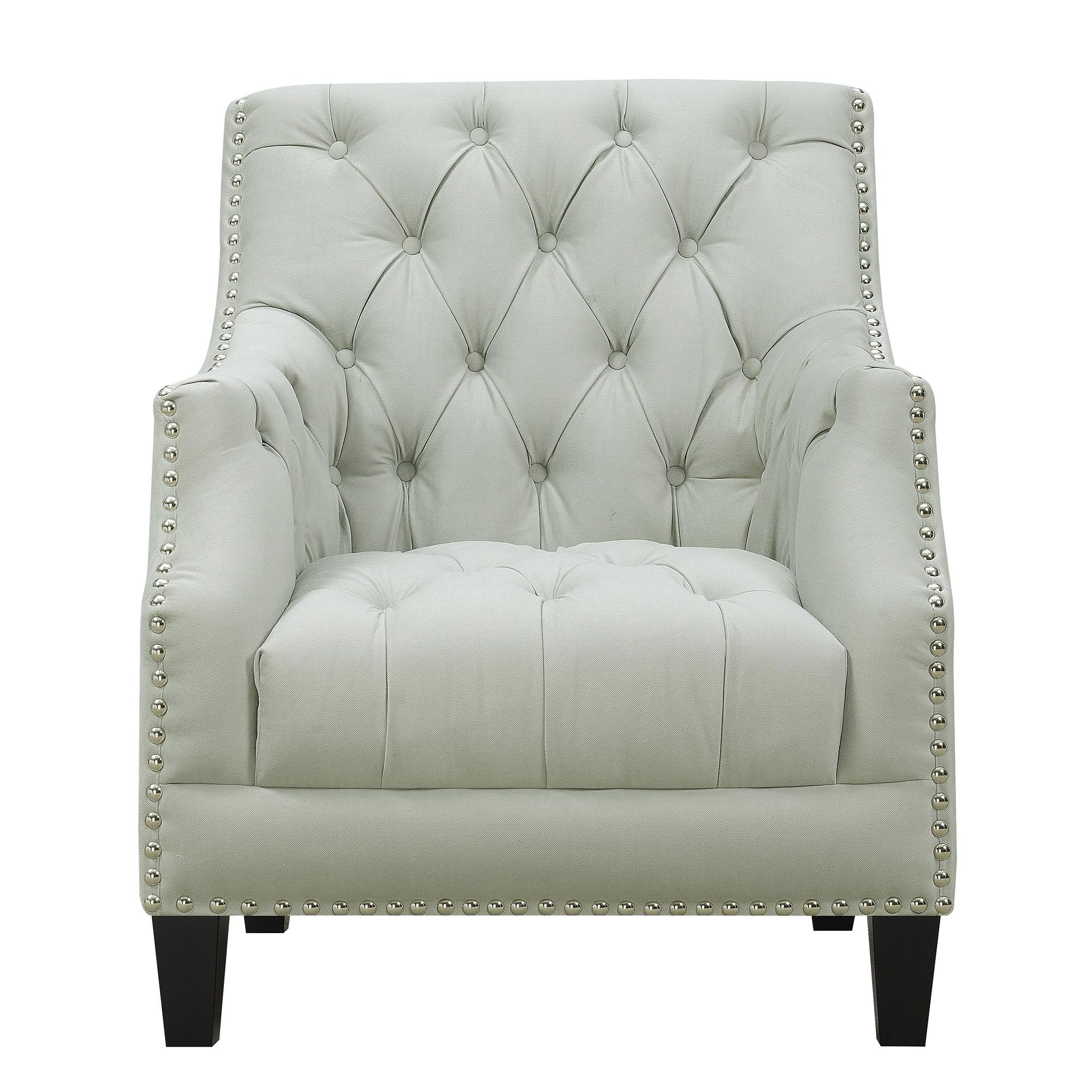 Fantastic Picket House Perry Pumice Fabric Button Tufted Accent Chair Pabps2019 Chair Design Images Pabps2019Com