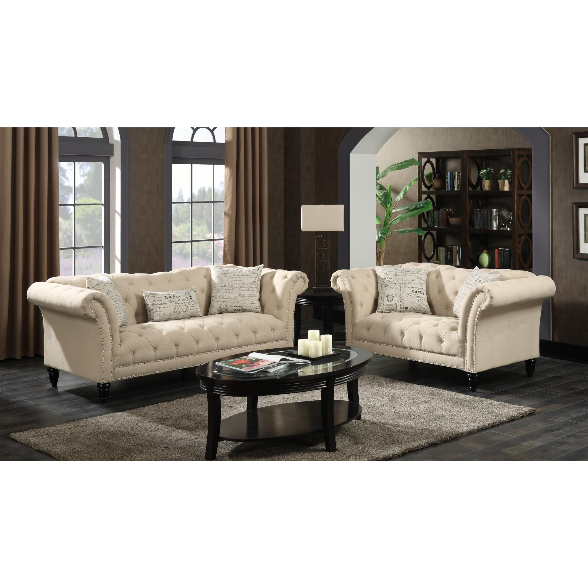 Admirable Picket House Twine Natural Fabric Sofa And Loveseat Set Ibusinesslaw Wood Chair Design Ideas Ibusinesslaworg