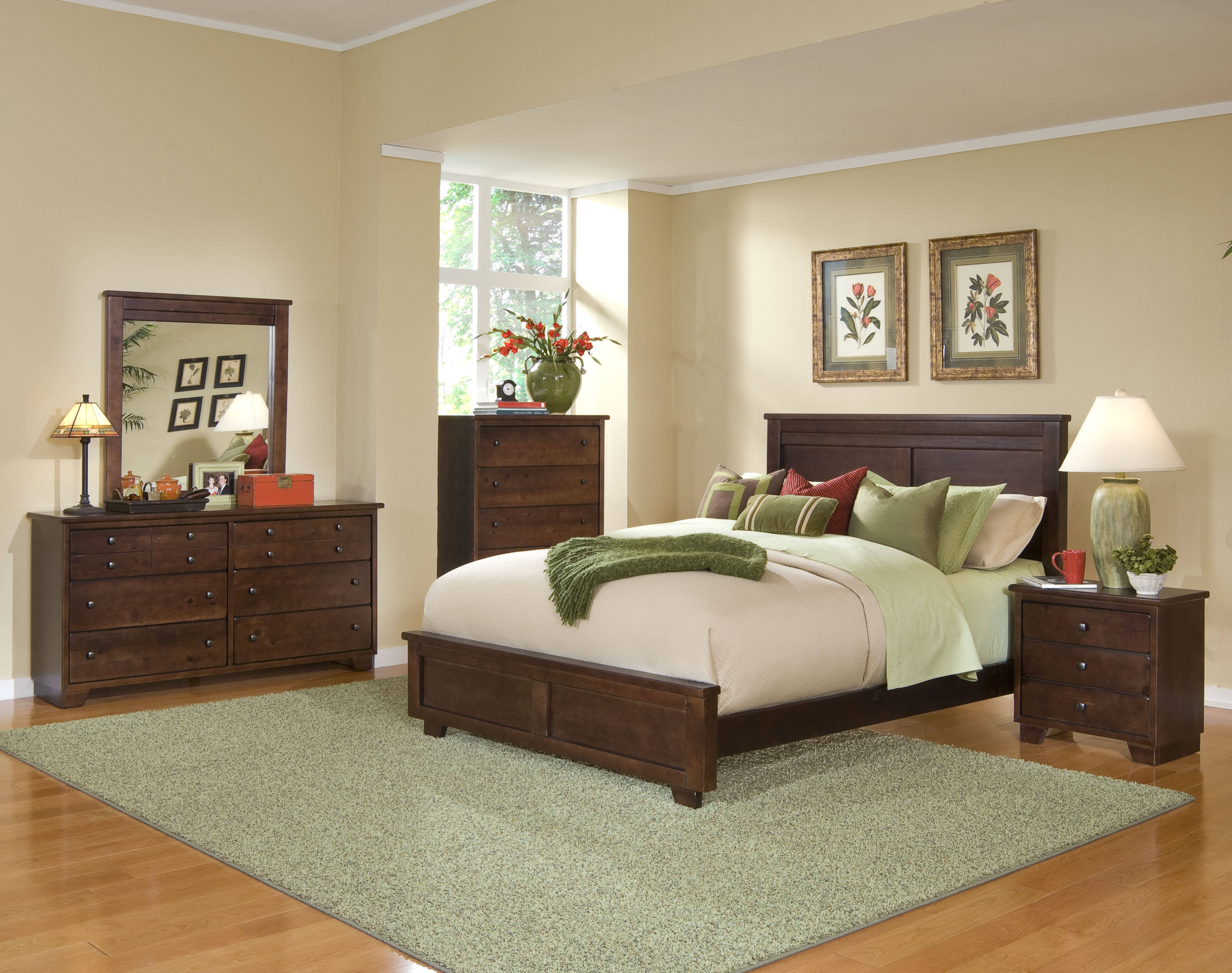 Progressive Furniture Diego Espresso Pine 2pc Bedroom Set