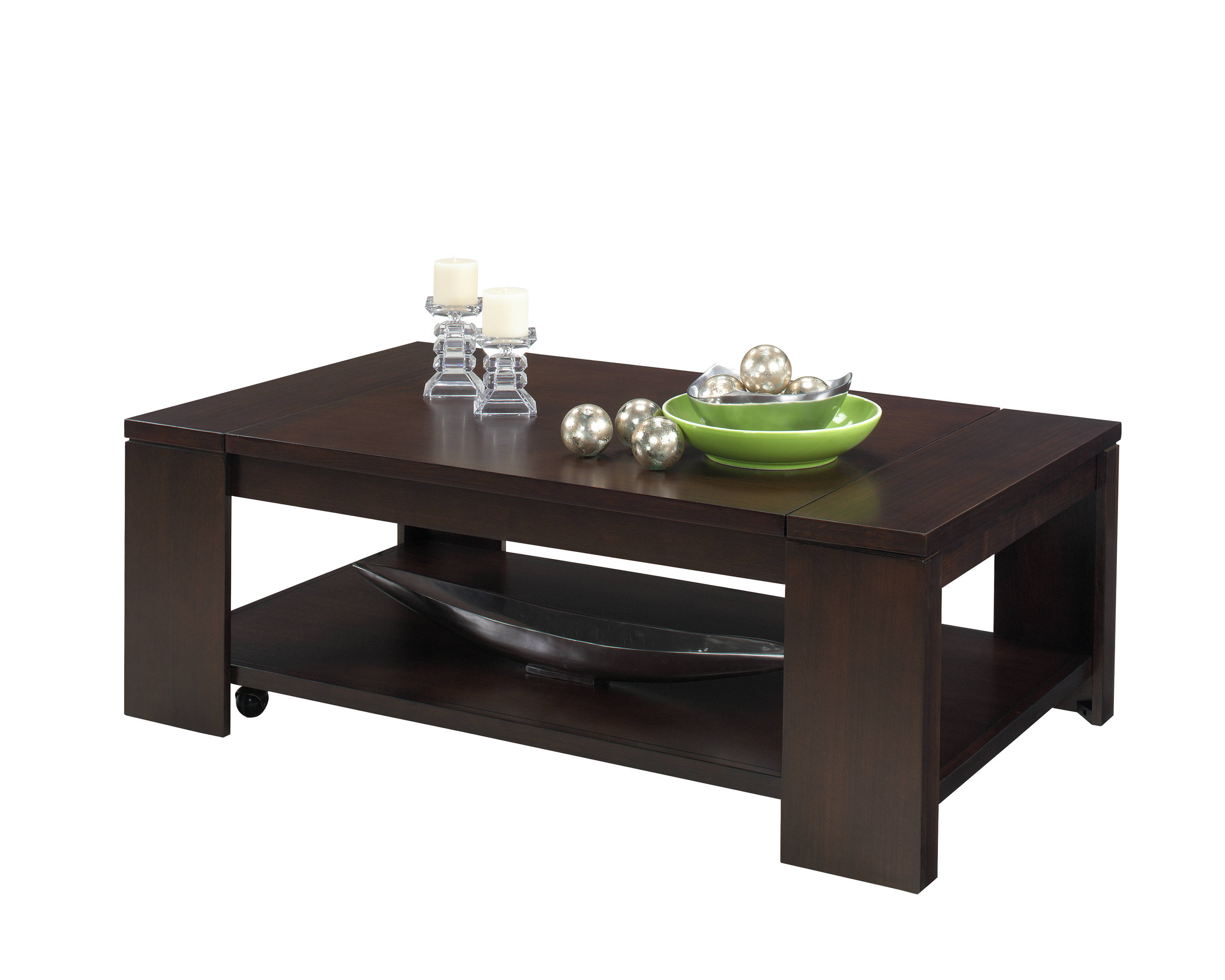 Waverly Vintage Walnut Rubberwood Mdf Castered Lift Top Cocktail Table Occasional Tables The