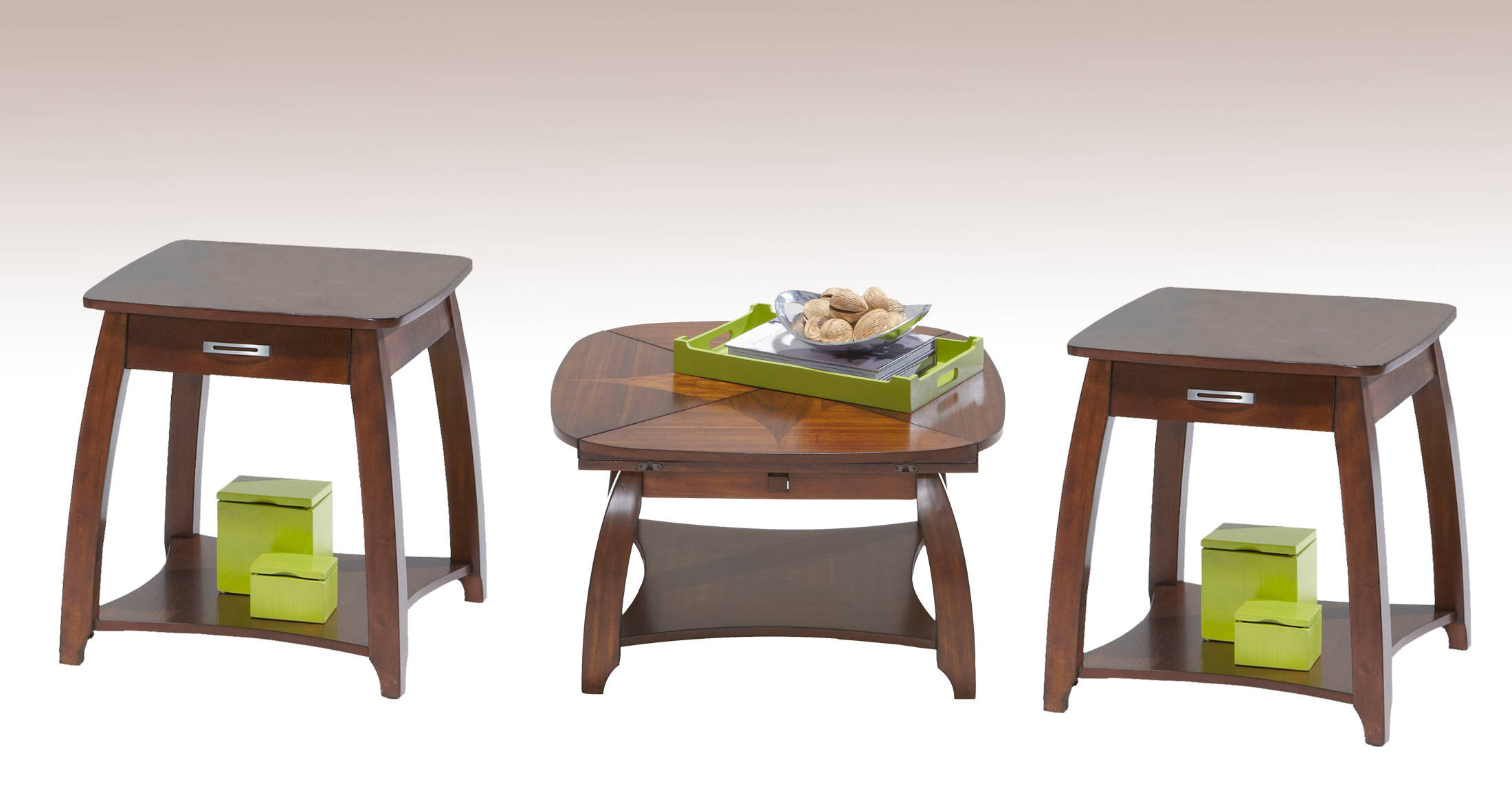 Brentwood Contemporary Flip Top Coffee Table Set The Classy Home