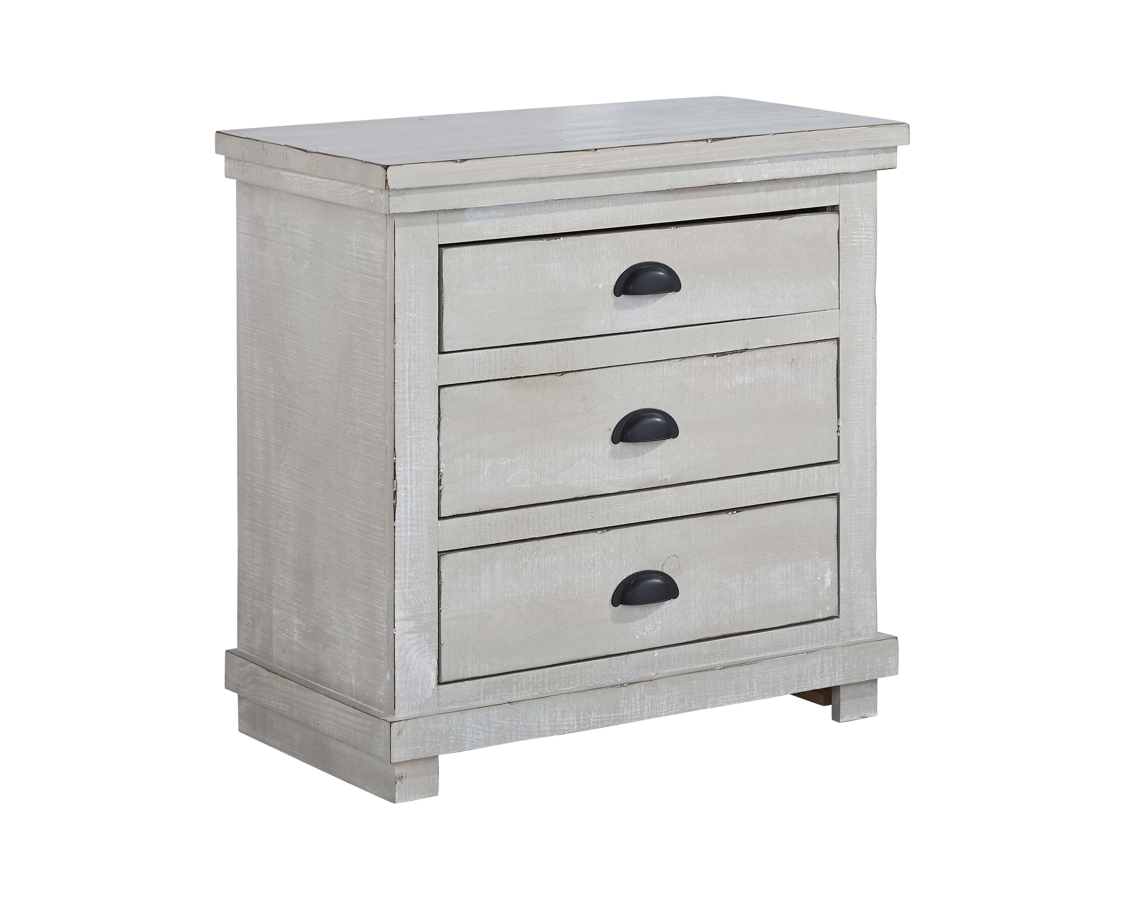 Progressive Furniture Willow Gray Chalk Nightstand
