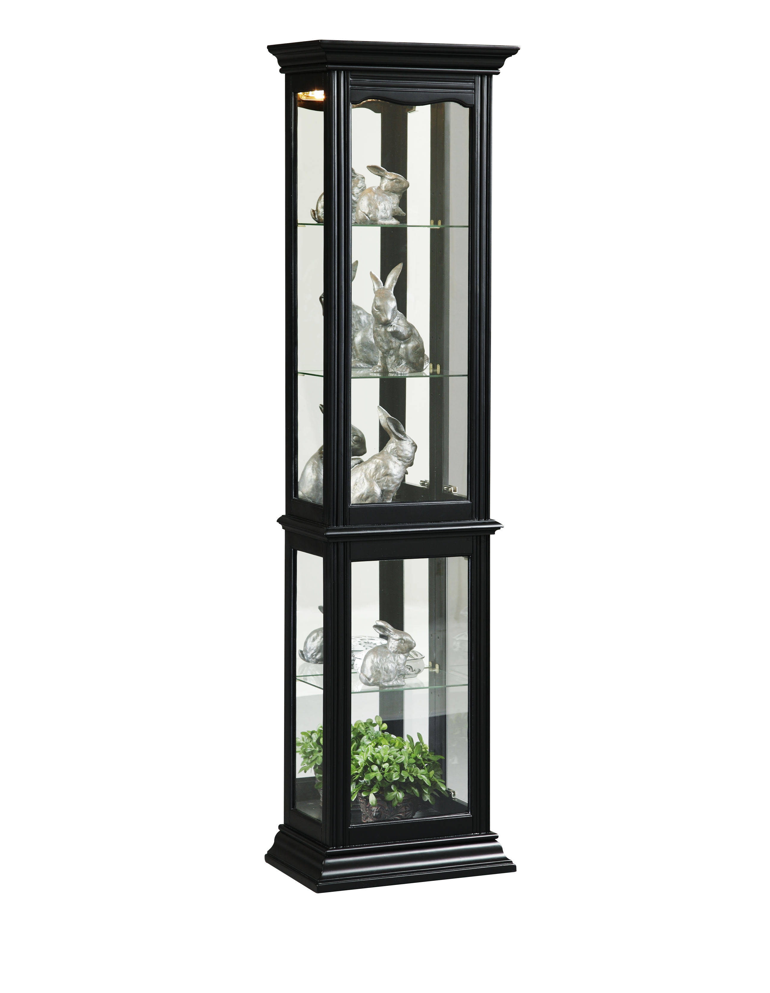 Pulaski furniture black curio cabinet