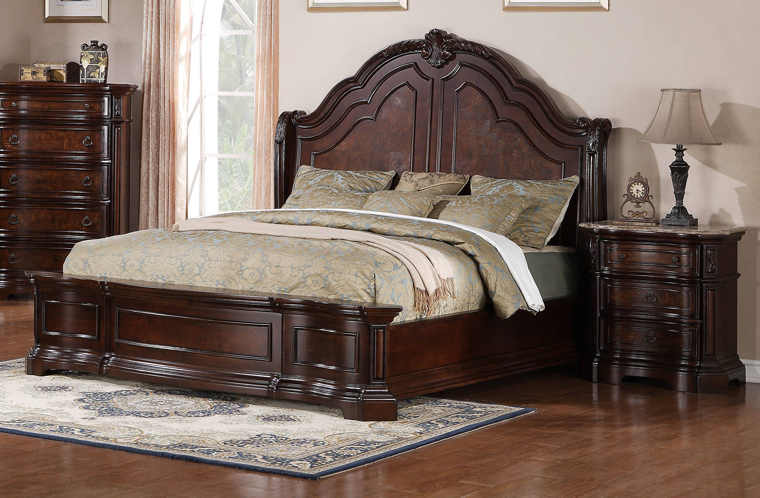 Samuel Lawrence Edington Brown 2pc Bedroom Set With King