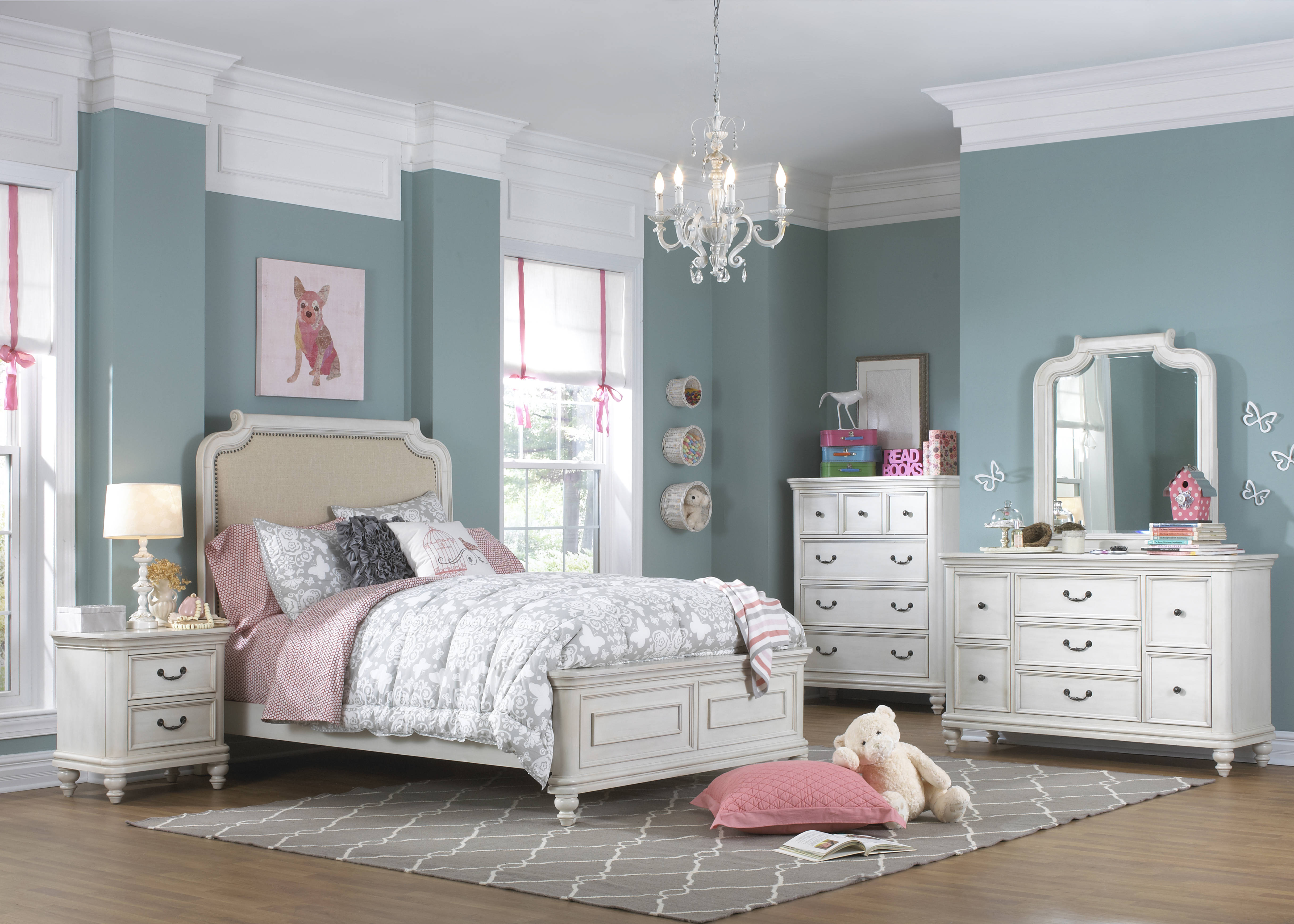 Samuel Lawrence Madison White 2pc Bedroom Sets with Bed   The Classy ...