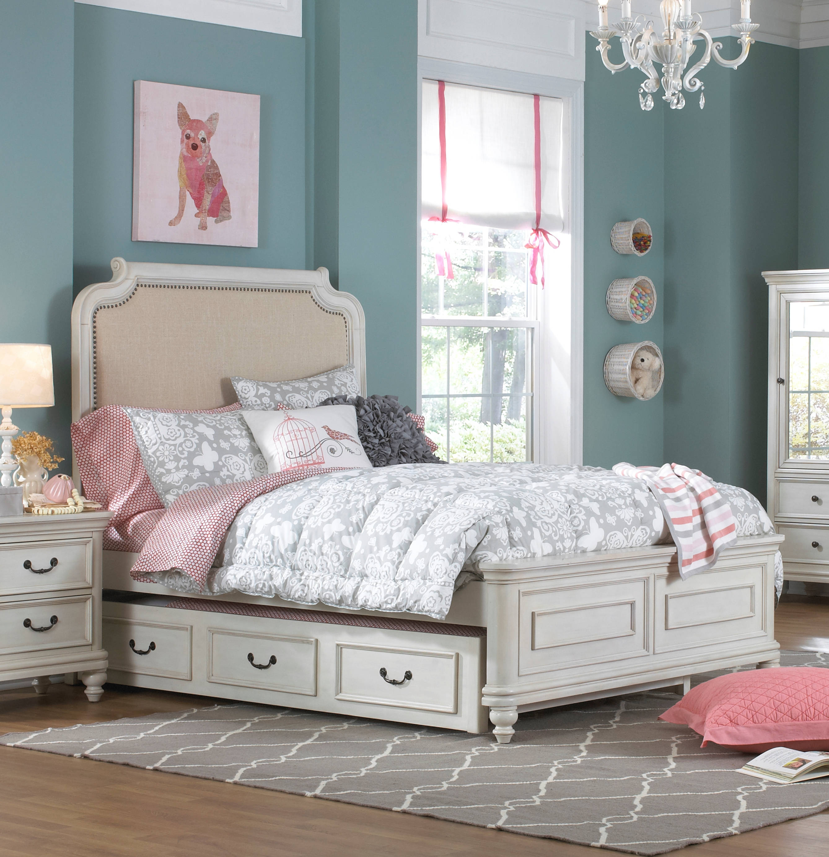 home meridian madison white twin trundle storage bed the classy home. Black Bedroom Furniture Sets. Home Design Ideas