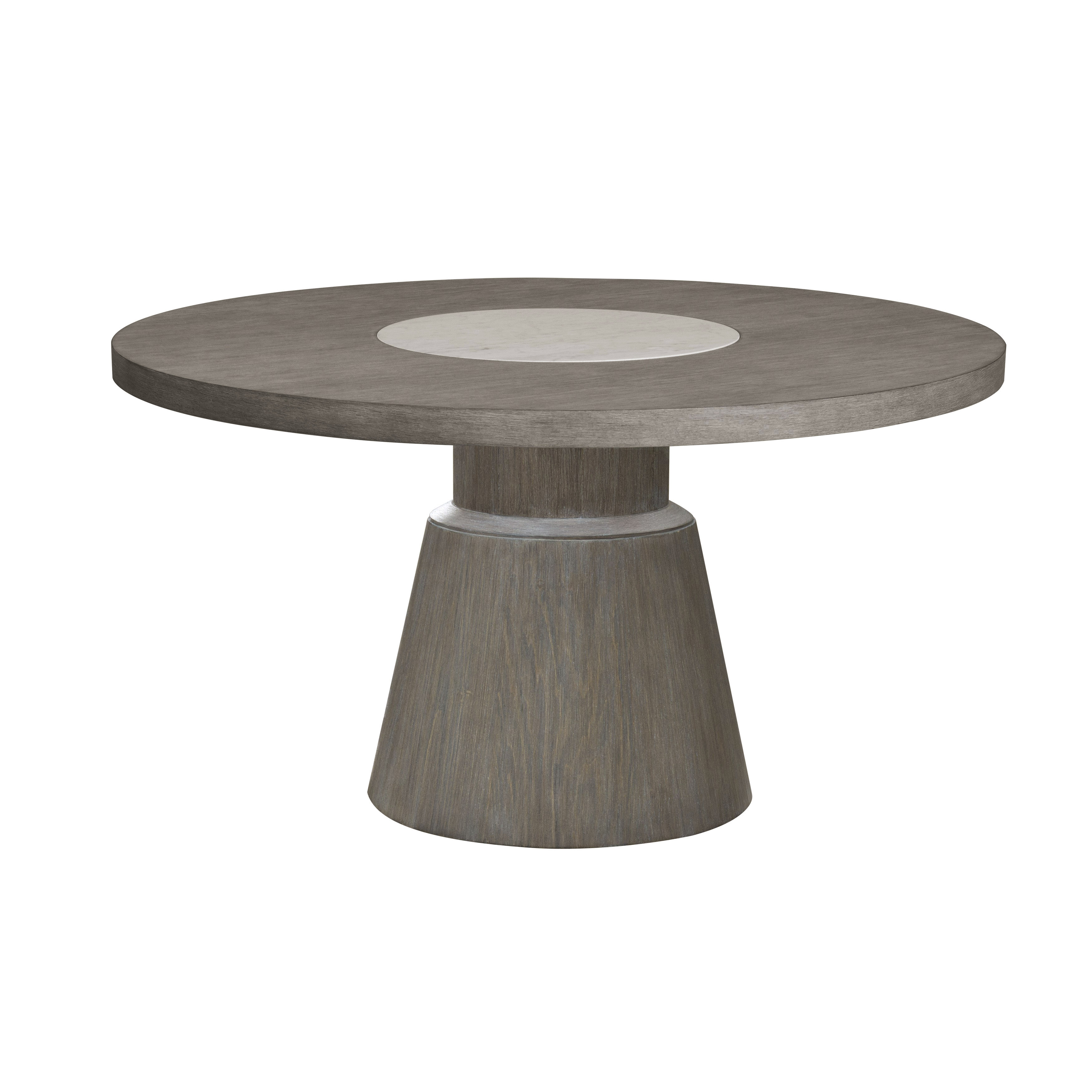 Home Meridian Modern Natural Taupe Marble Insert Round Dining Table