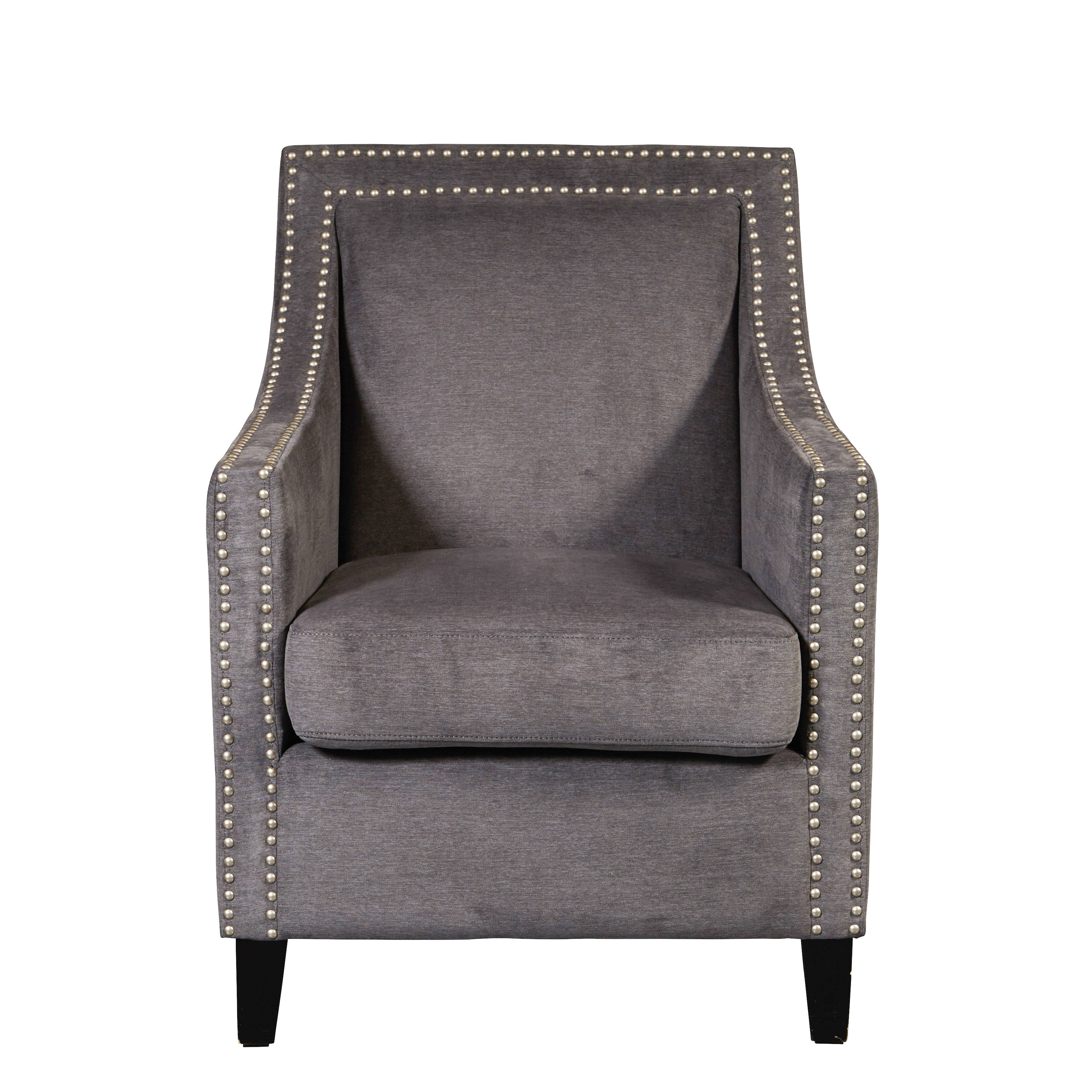 Pulaski Furniture Grey Nailhead Trim Accent Arm Chair Click To Enlarge ...