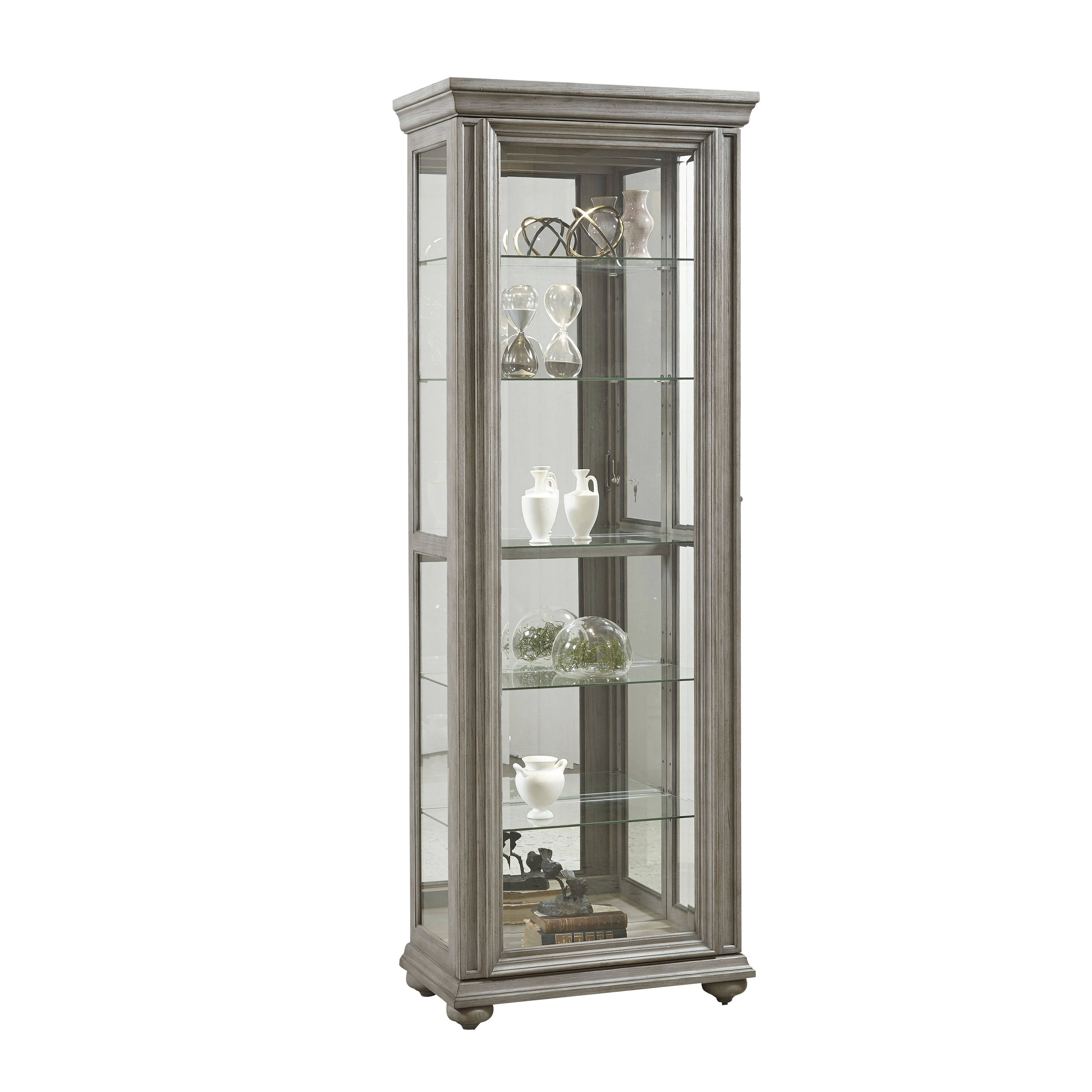 Pulaski Furniture Antique Taupe Display Cabinet The