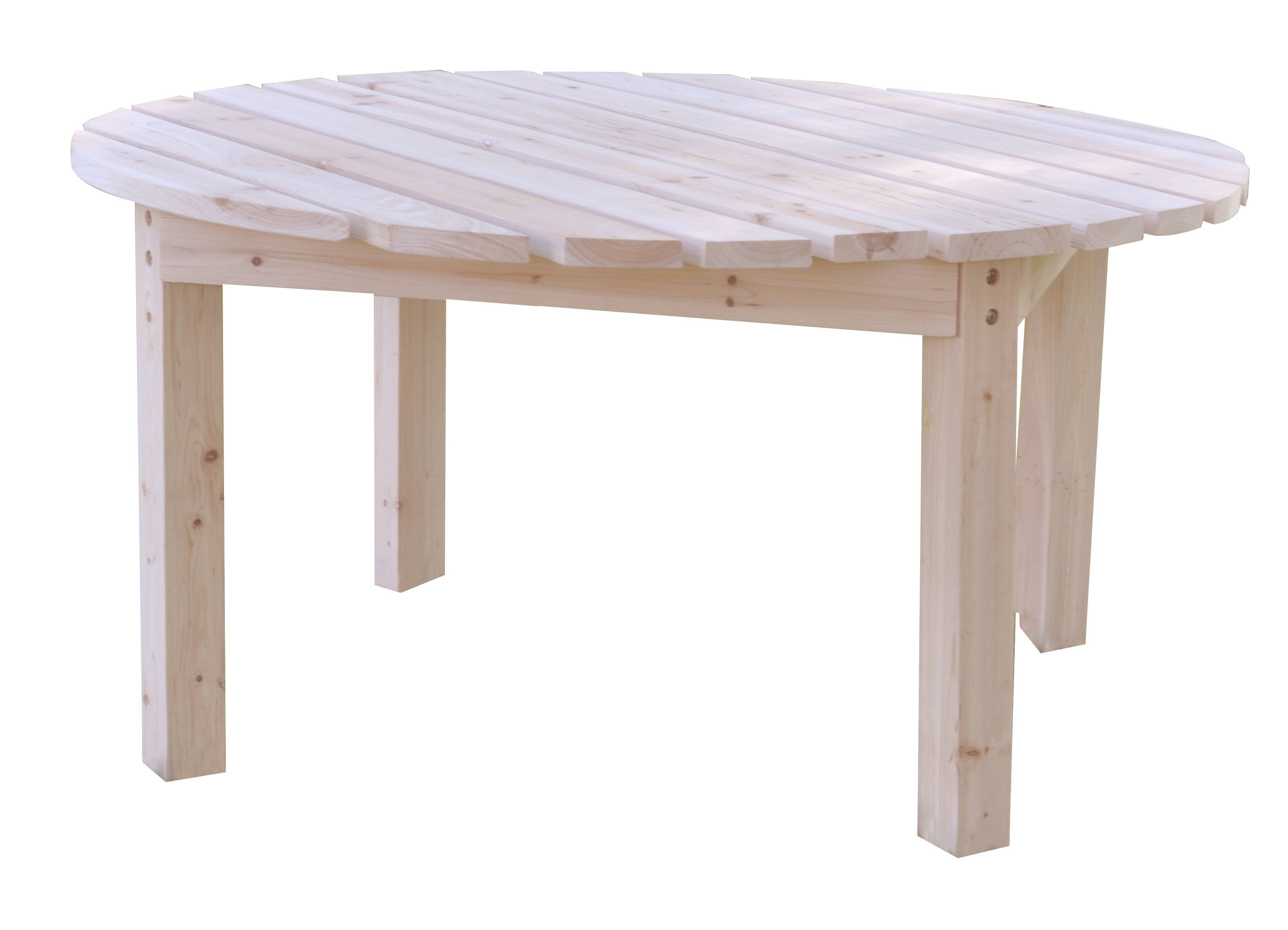 38 Inch Round Table.Classic Natural White Cedarwood 38 Inch Round Outdoor Chat Tables