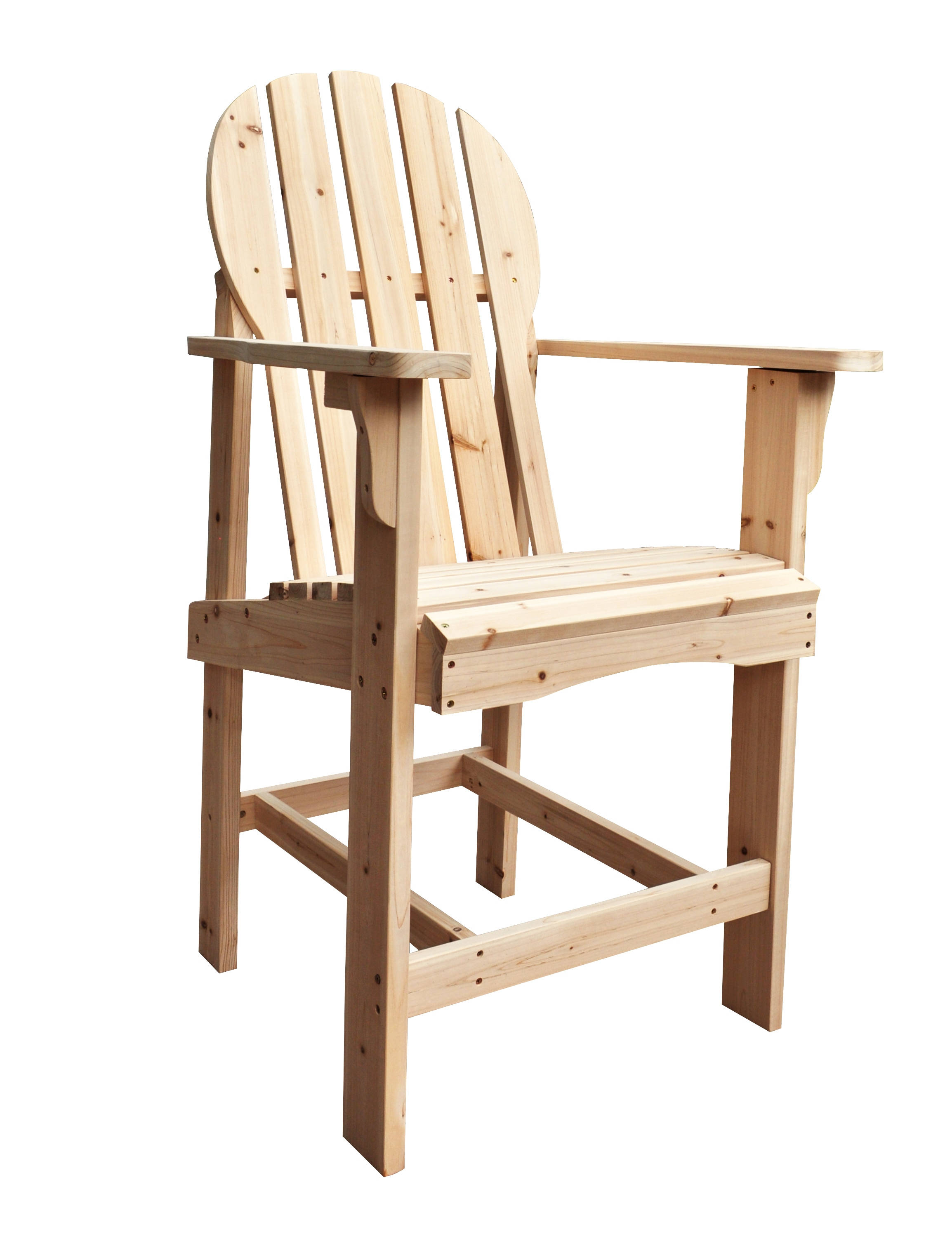 Captiva Traditional Natural Cedarwood Outdoor Counter High Chair Click To  Enlarge ...