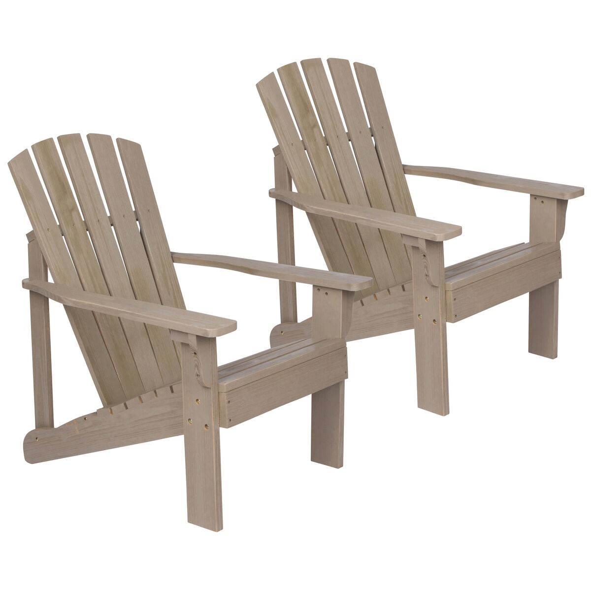 Astounding 2 Shine Vineyard Taupe Gray Wood Adirondack Chairs Gamerscity Chair Design For Home Gamerscityorg