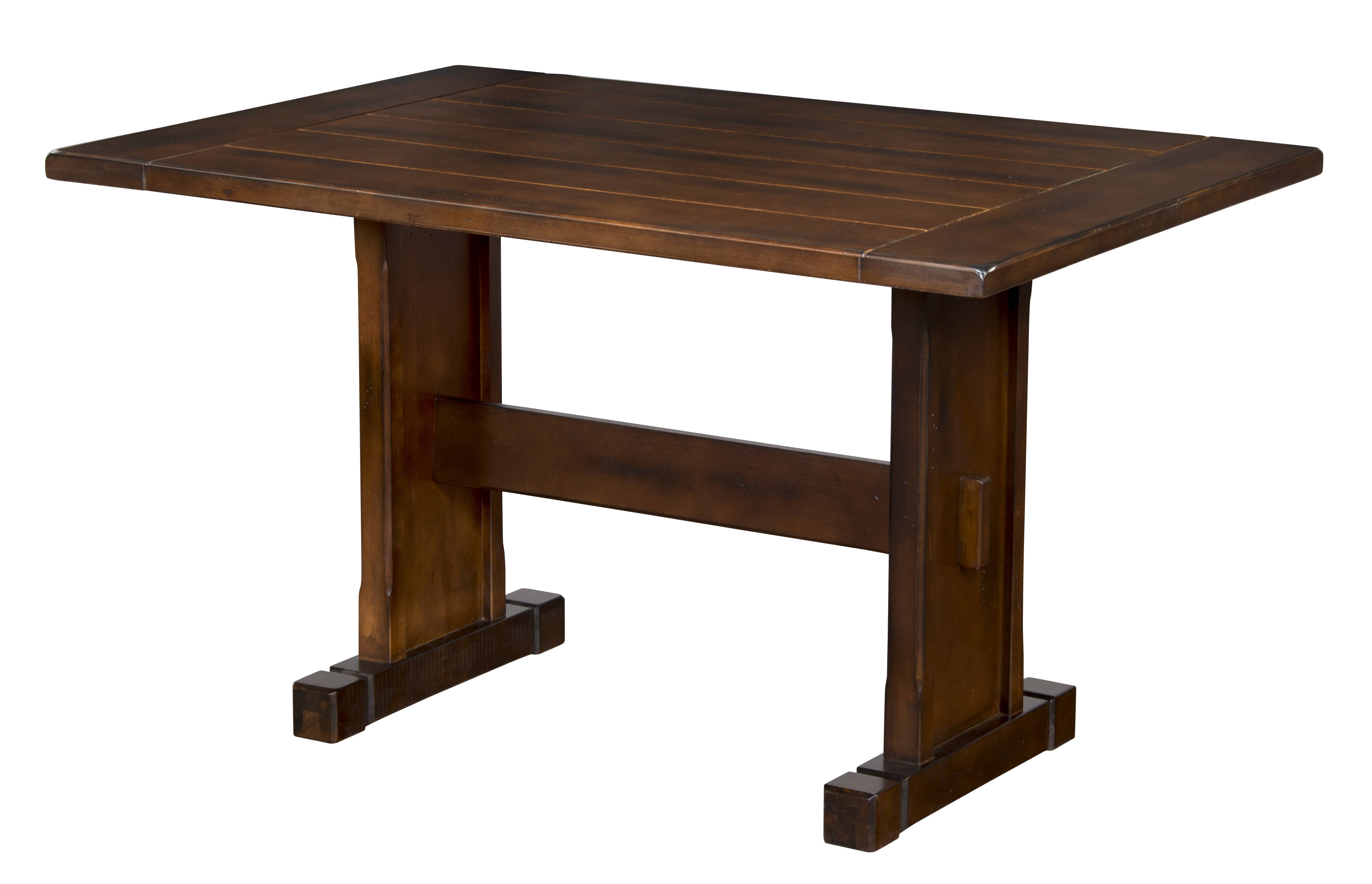 Santa fe dark chocolate wood extension rectangle dining for Wood rectangle dining table
