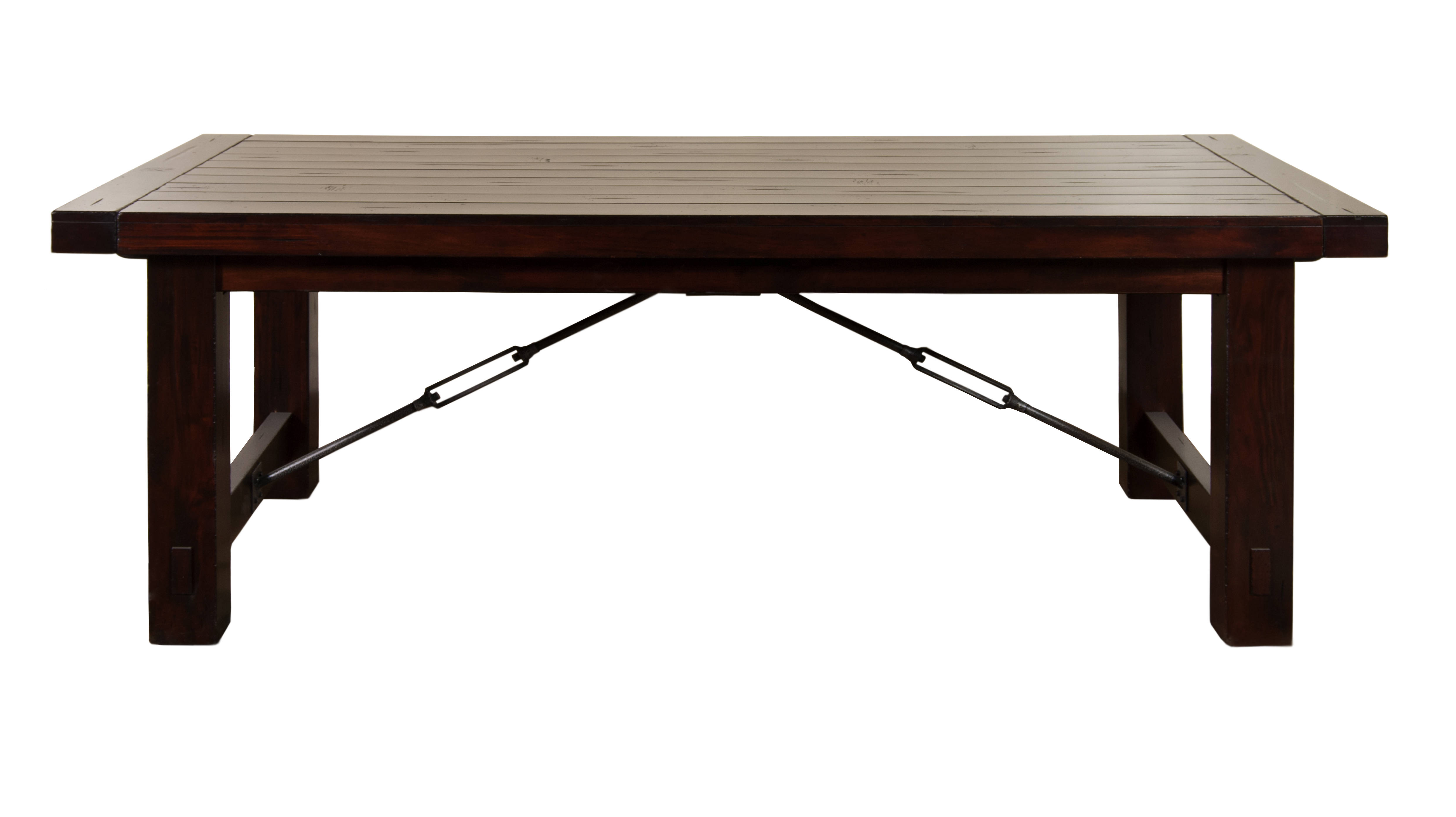 Sunny Designs Vineyard Rustic Mahogany Extension Table Click To Enlarge ...