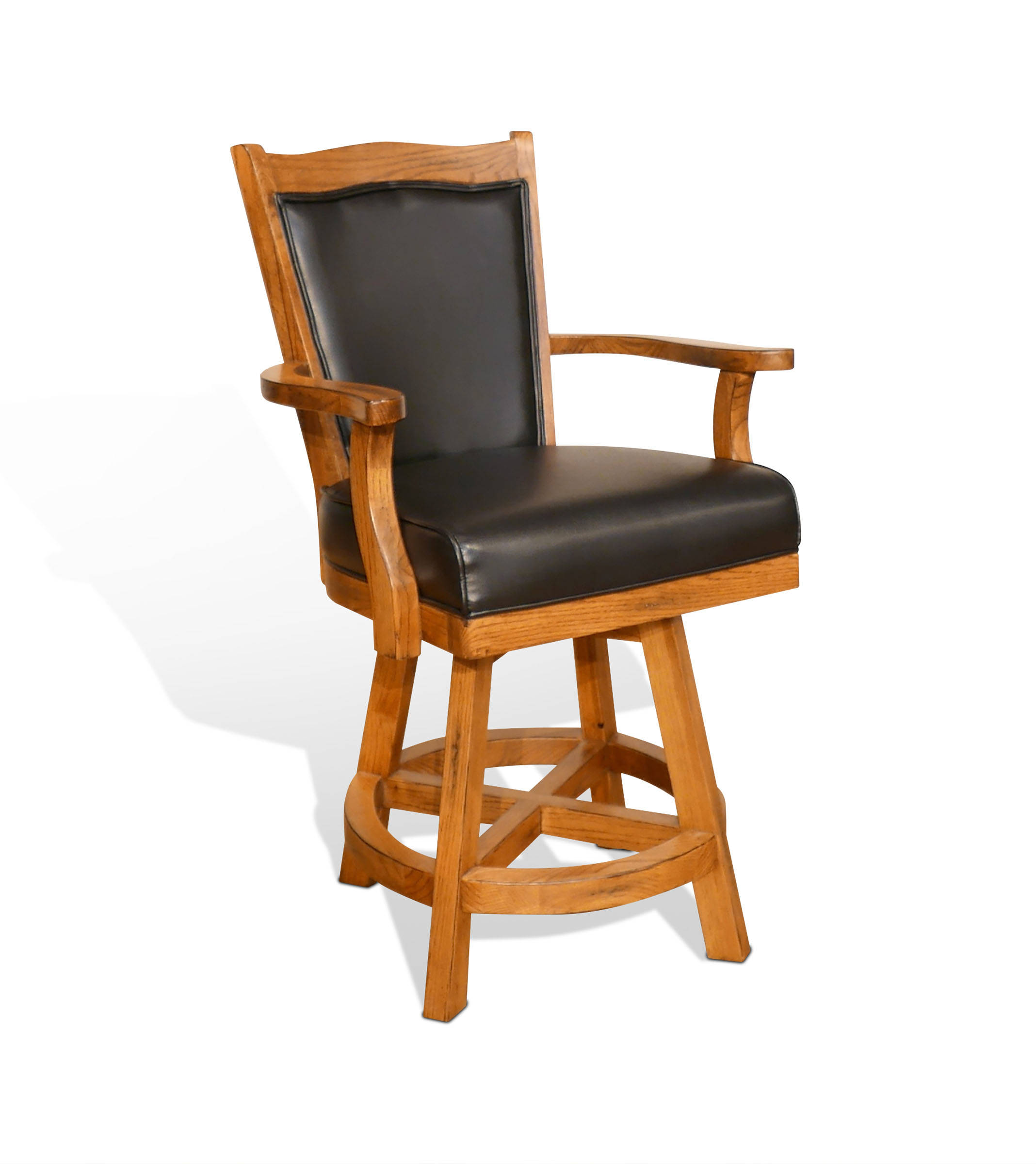 Sunny Designs Sedona Rustic Oak Cushion Back Barstool