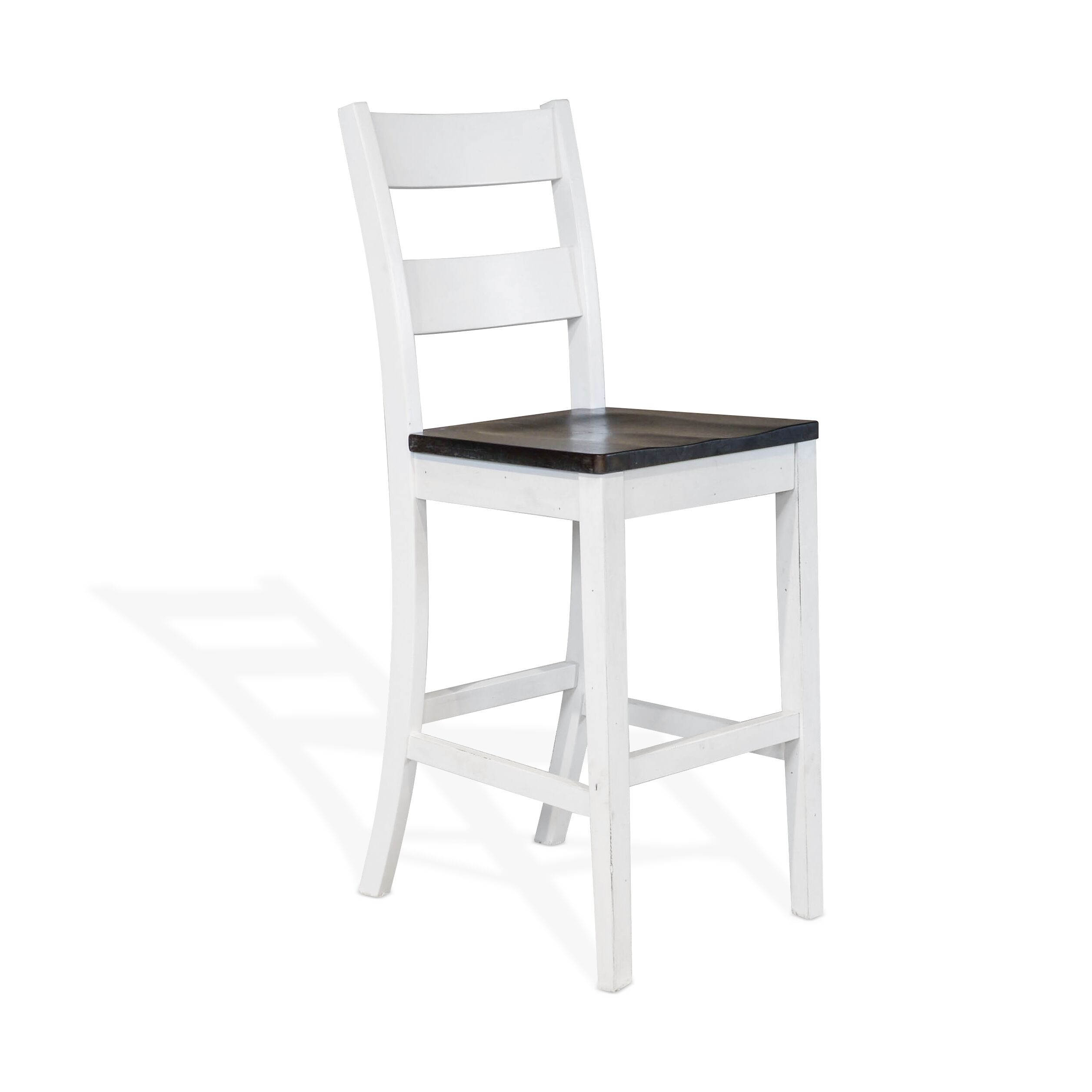 White Dark Brown 24 Inch Ladder Back Bar Stools Click To Enlarge