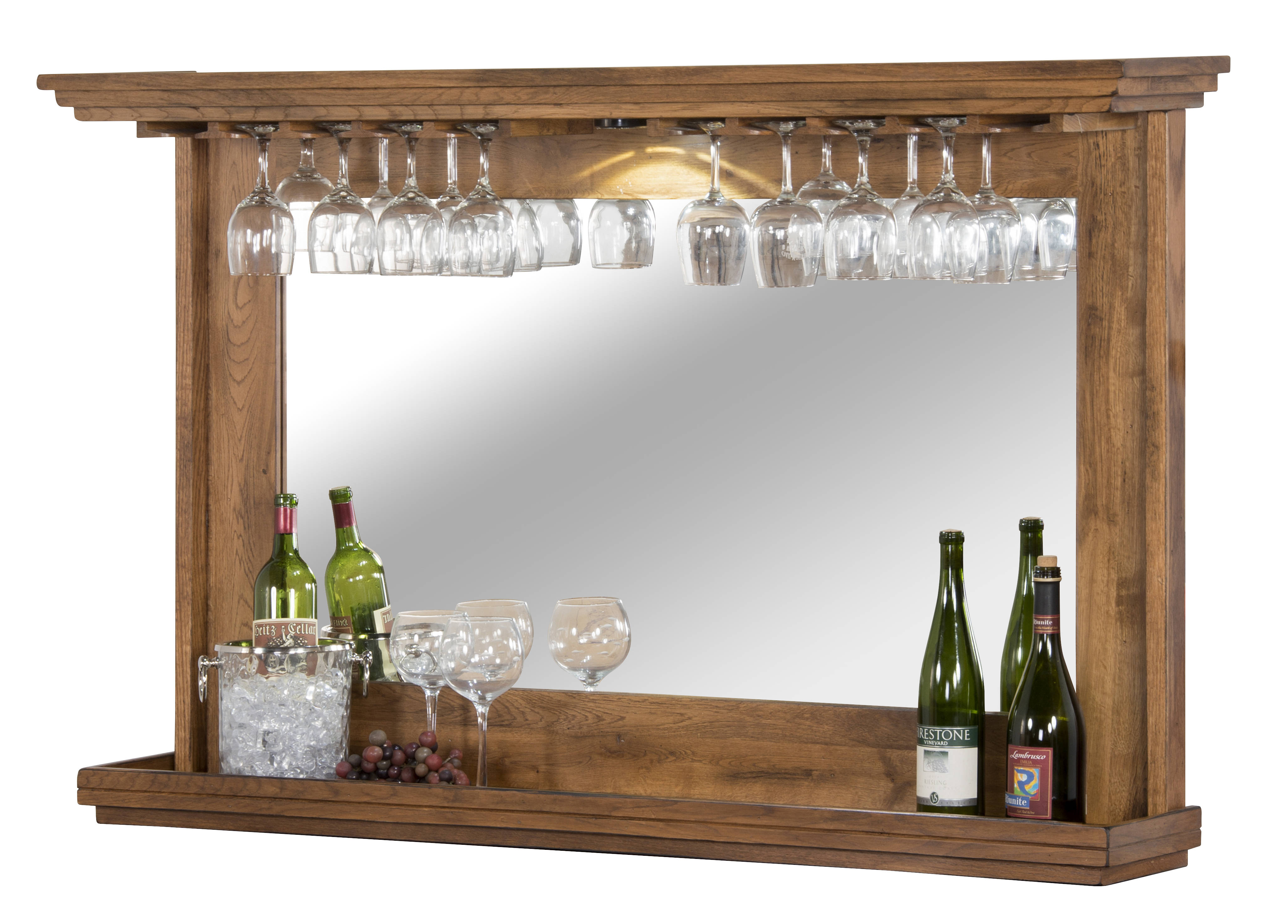 Sedona Rustic Oak Wood Storage Back Bar Wine Cabinet Click To Enlarge