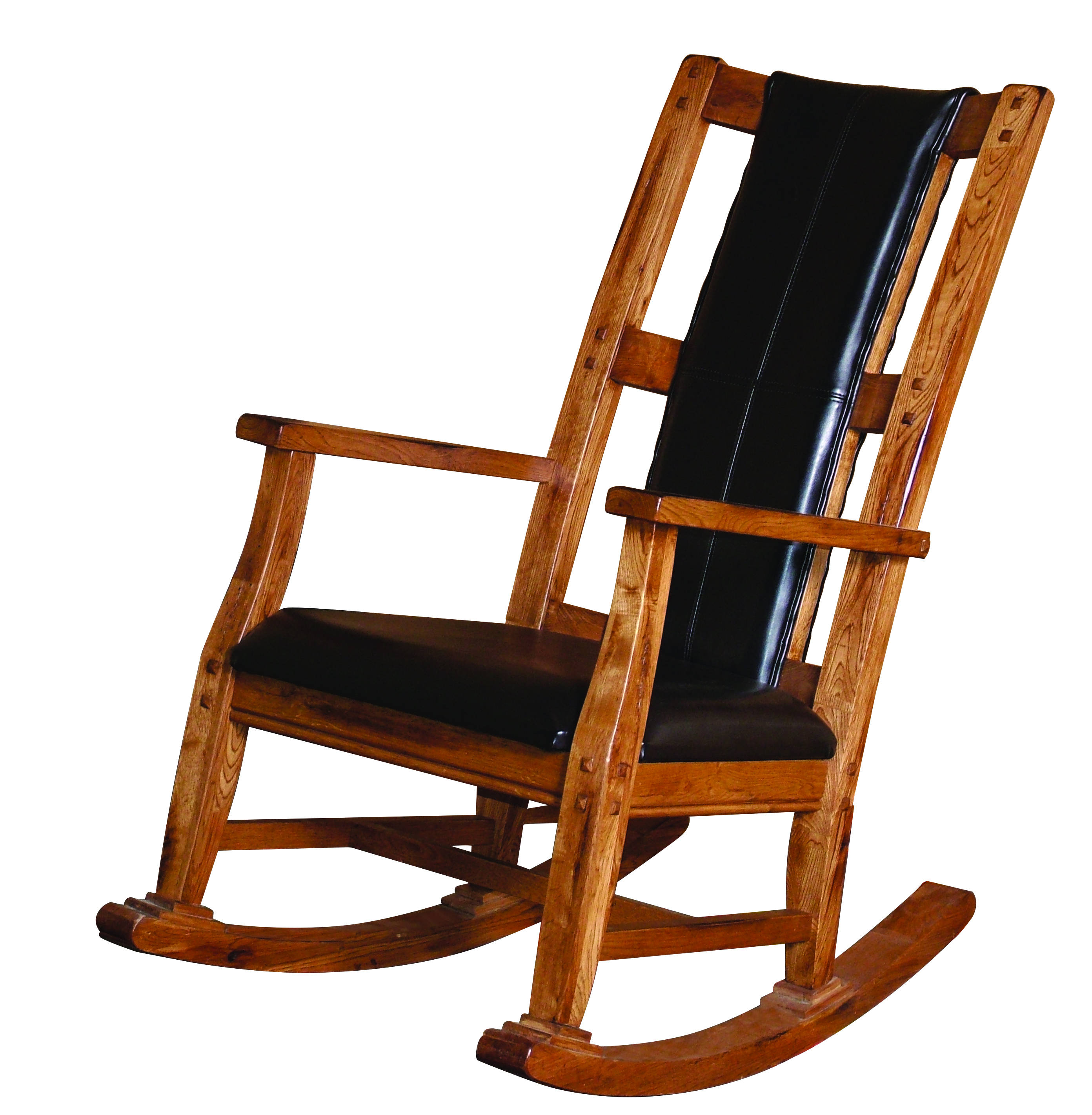 Sunny Designs Sedona Rustic Oak Wood Rocker The Classy Home