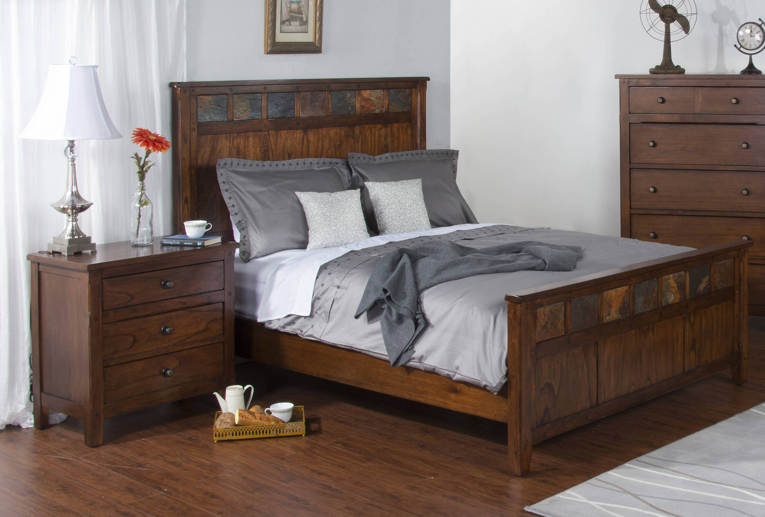 Sunny Designs Santa Fe Petite Dark Brown 2pc Bedroom Set ...