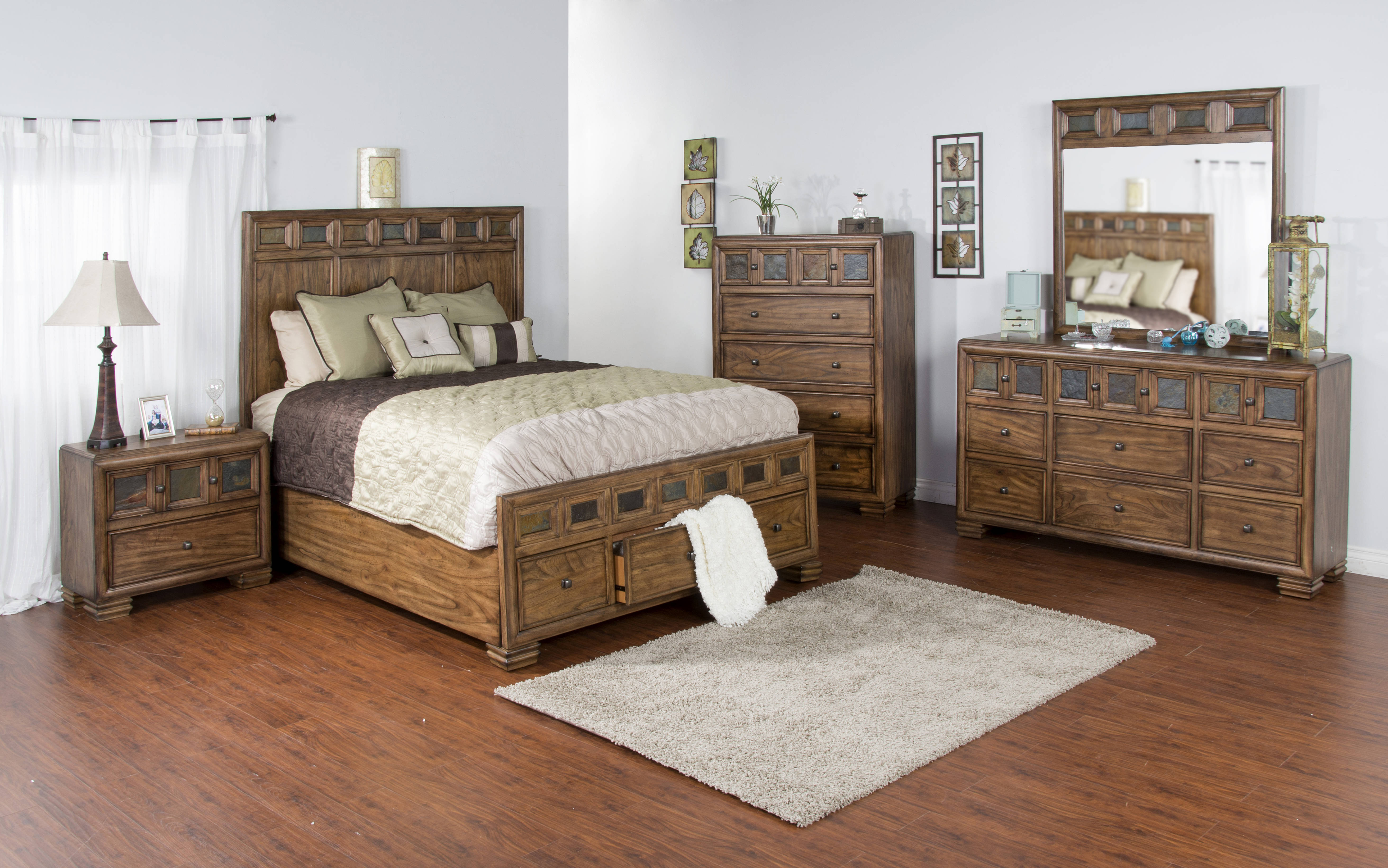 Coventry Wood Storage Master Bedroom Set The Classy Home The Classy Home Best Deal Furniture