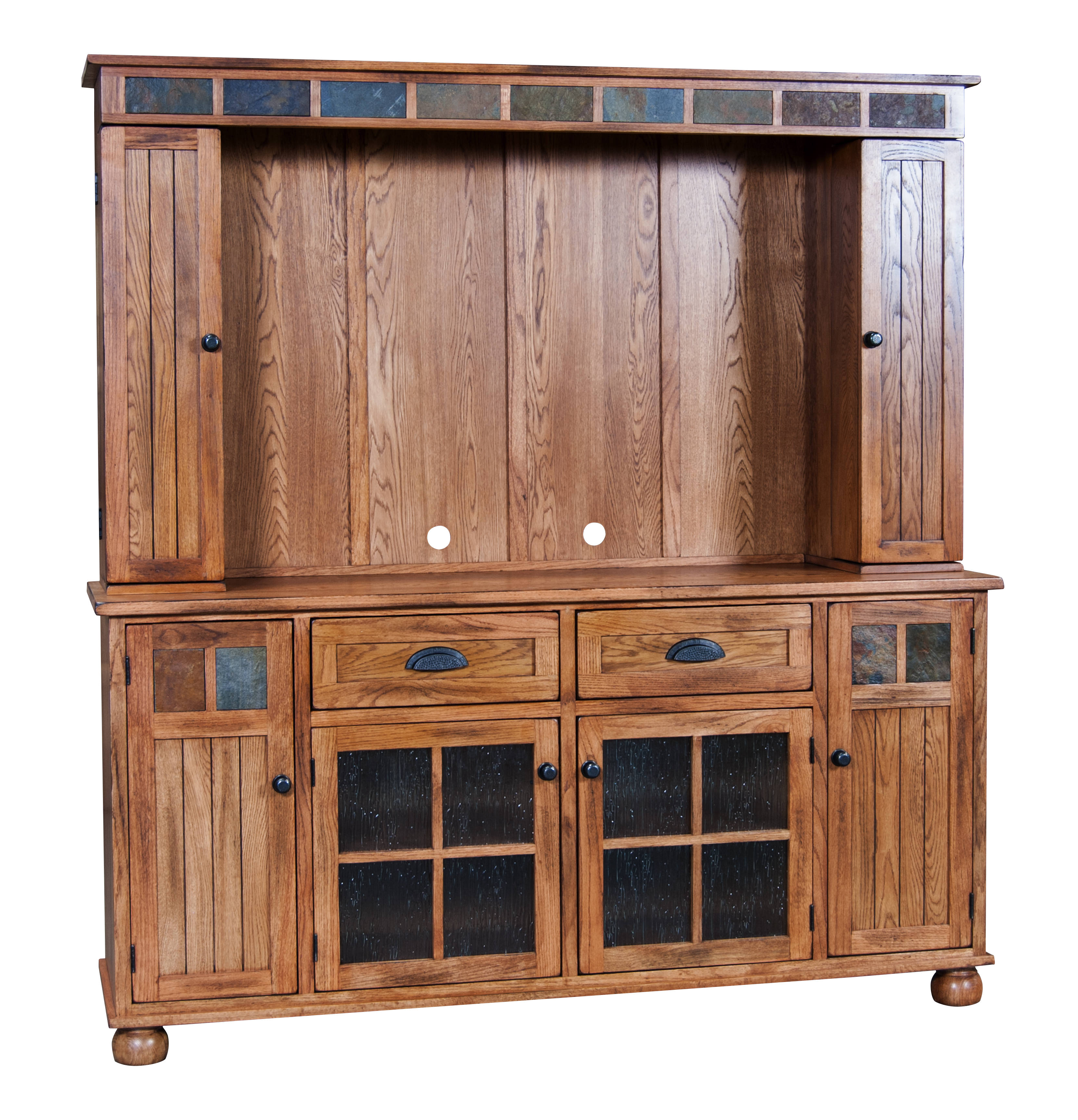 Sunny Designs Sedona Rustic Oak Wood Tv Console Only The Classy Home