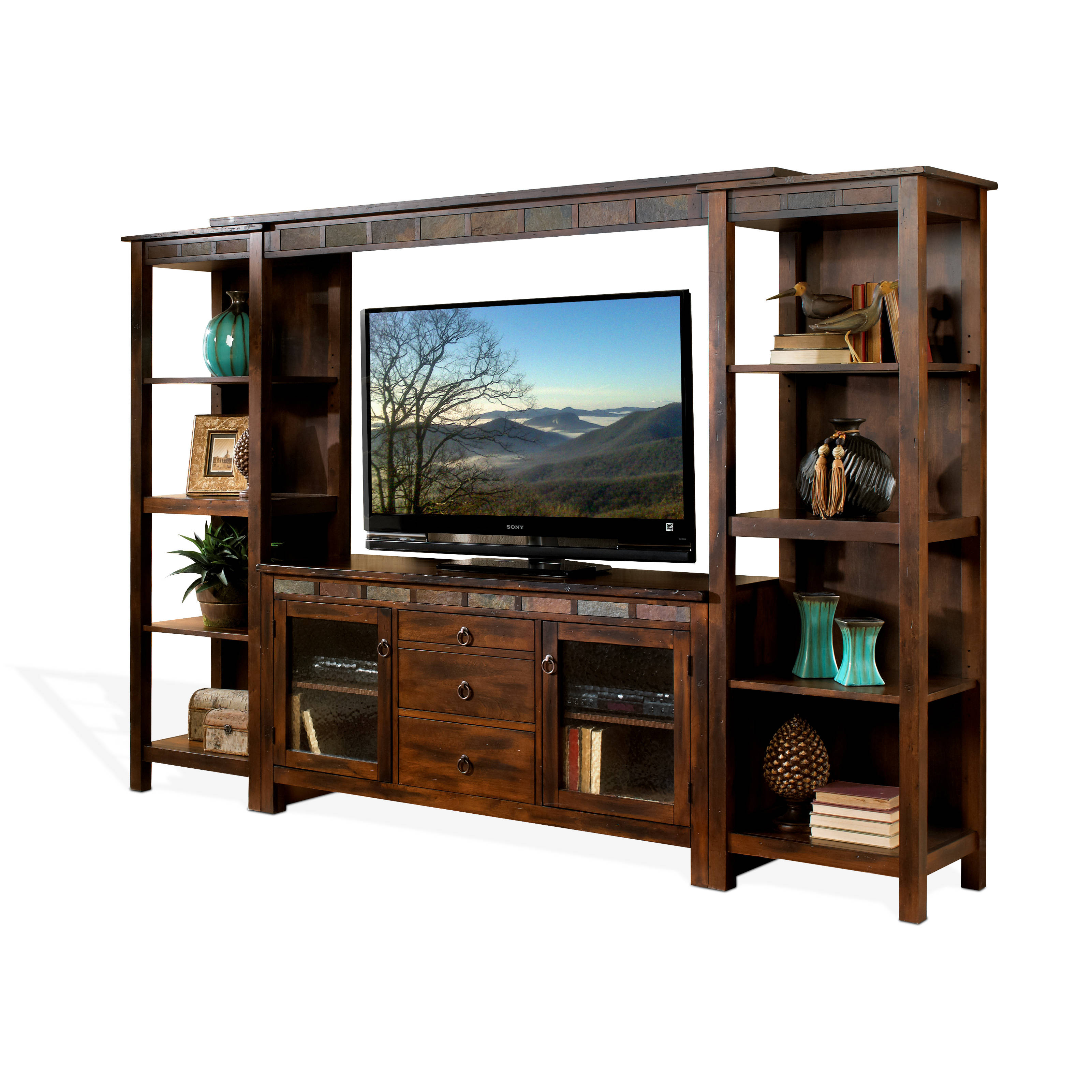 Sunny Designs Santa Fe Entertainment Center With 60 Inch Tv Console
