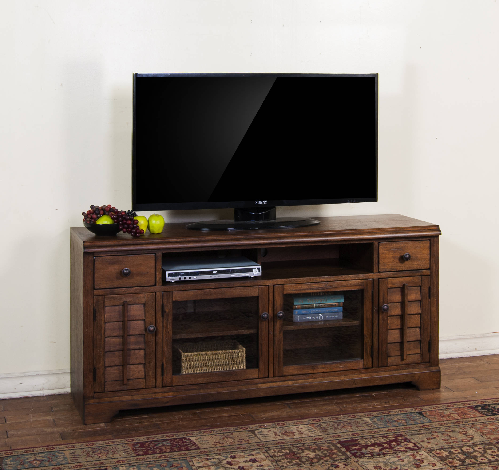 premium selection 1c360 db2f8 Sunny Designs Savannah Charcoal 65 Inch TV Console Only ...