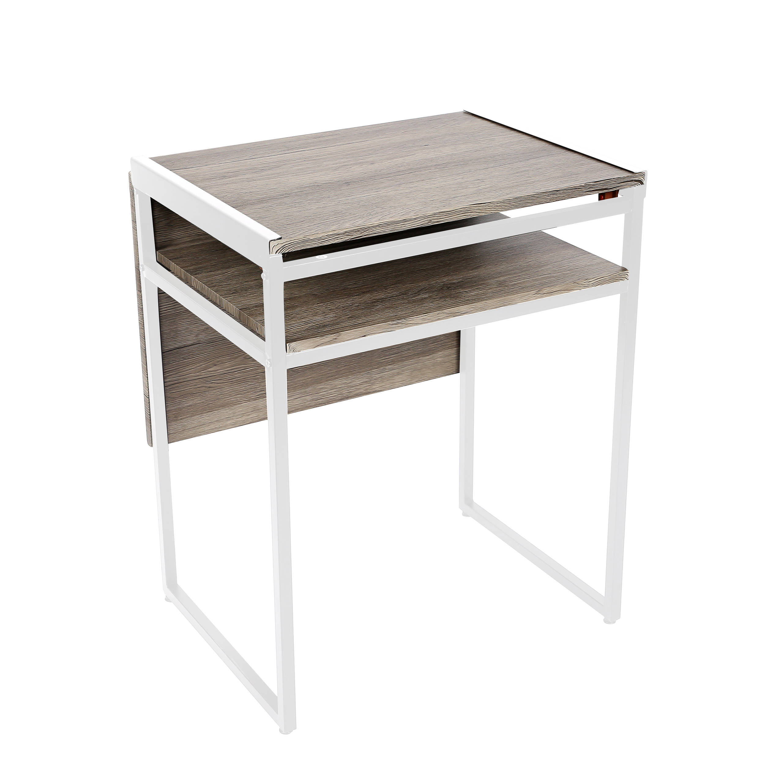 E Master White Small Desk And Dining Table