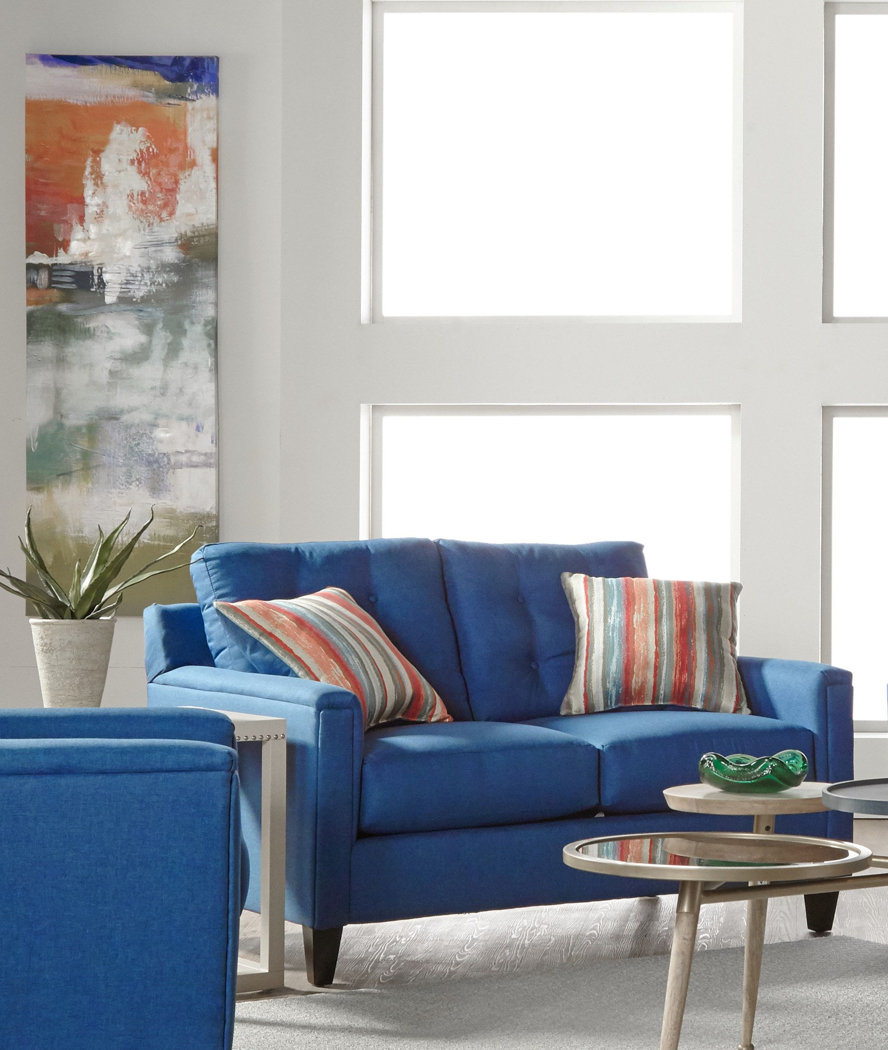 Phenomenal Serta 6800 Series Jitterbug Denim Loveseat The Classy Home Gmtry Best Dining Table And Chair Ideas Images Gmtryco