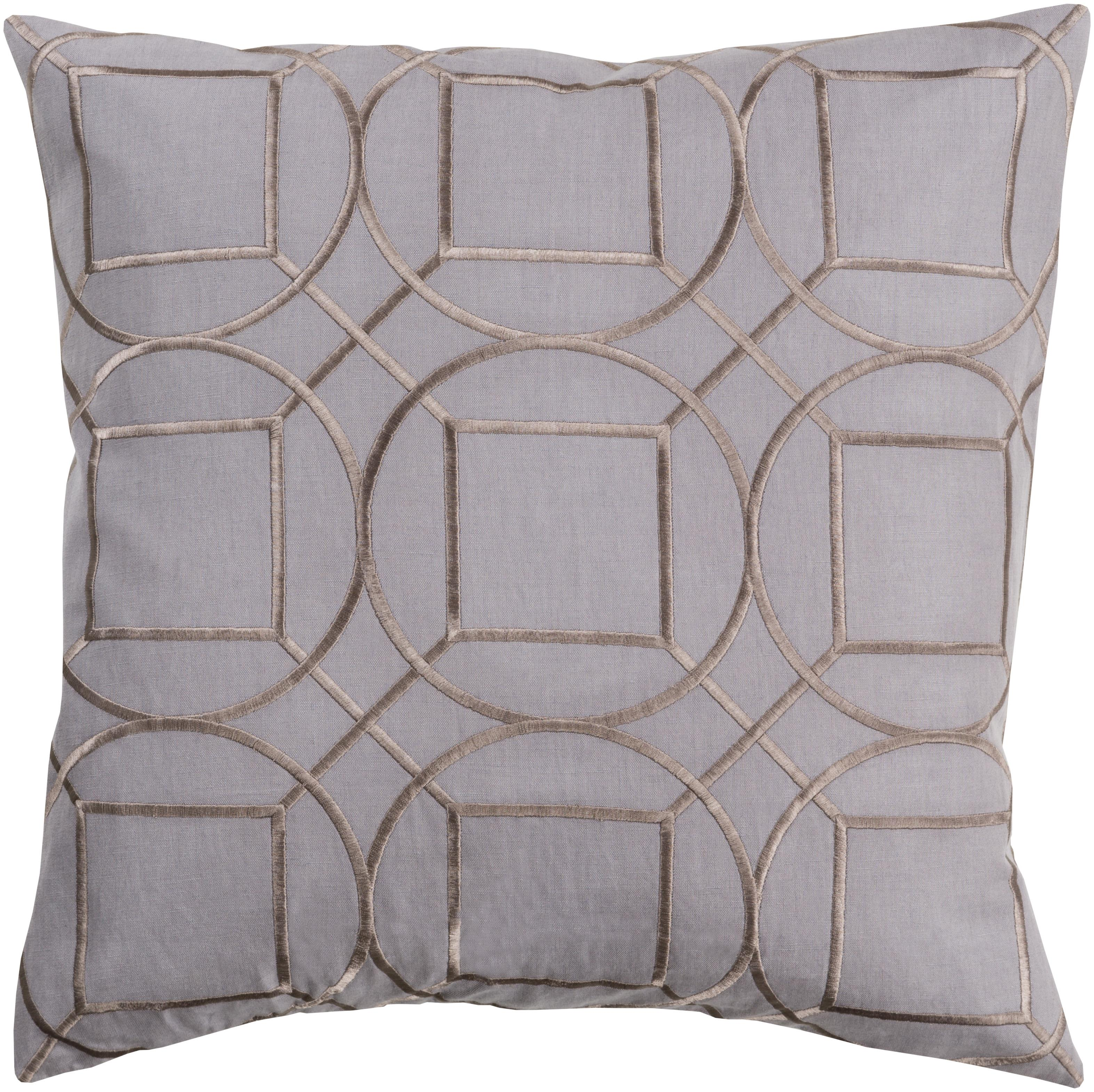 Skyline charcoal gray fabric throw pillow l 20 x w 20 x h - Fabric for throw pillows ...